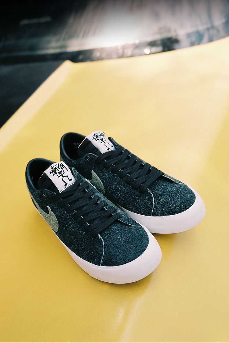 buy popular bf11f 6d59f Nike SB Zoom Blazer Low Stüssy x Terps 'Black & Reflect ...