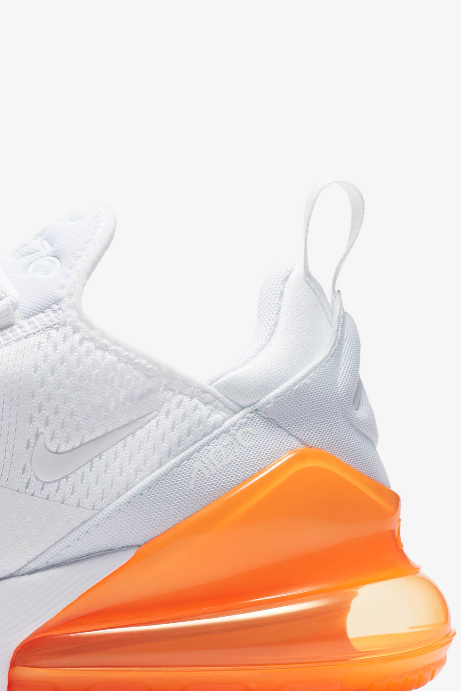 Nike Air Max 270 White Pack  Total Orange  Release Date. Nike⁠+ SNKRS a77991d3be7c