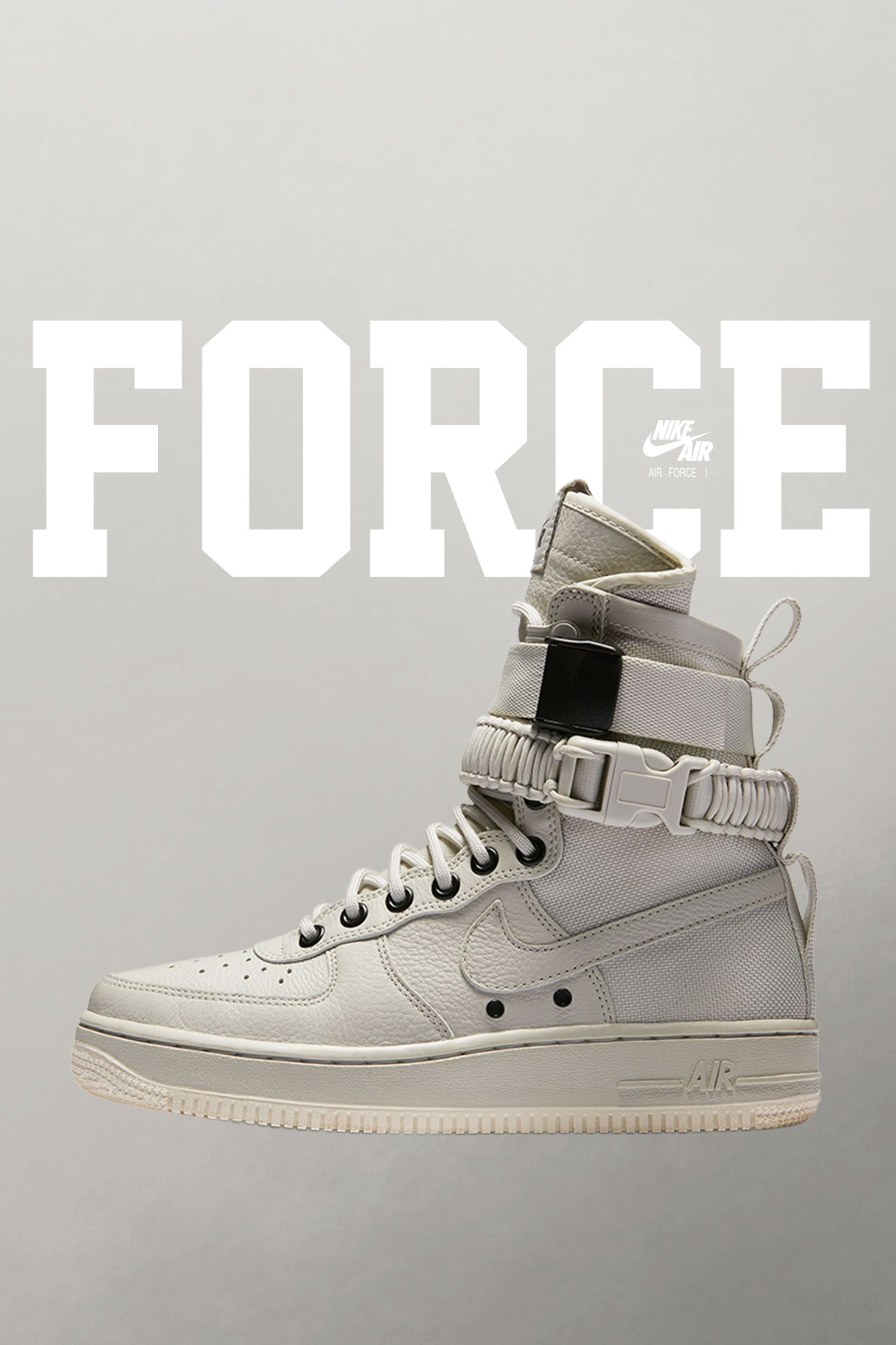 Nike Special Field Air Force 1 'Light Bone & Sail' voor dames. Releasedatum
