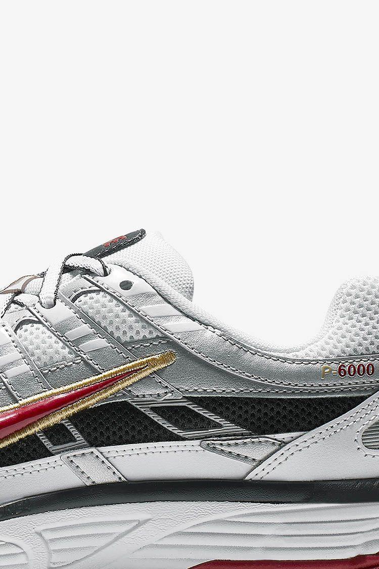 Women's Nike P-6000 'White & Metallic Platinum & Dark Charcoal' Release Date