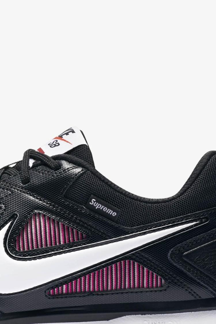 Nike Sb Gato Qs Supreme 'Black & White & Spirit Teal' Release Date