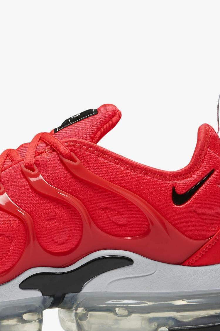 Nike Air Vapormax Plus  Bright Crimson   White   Black  Release Date ... 506dafa2a