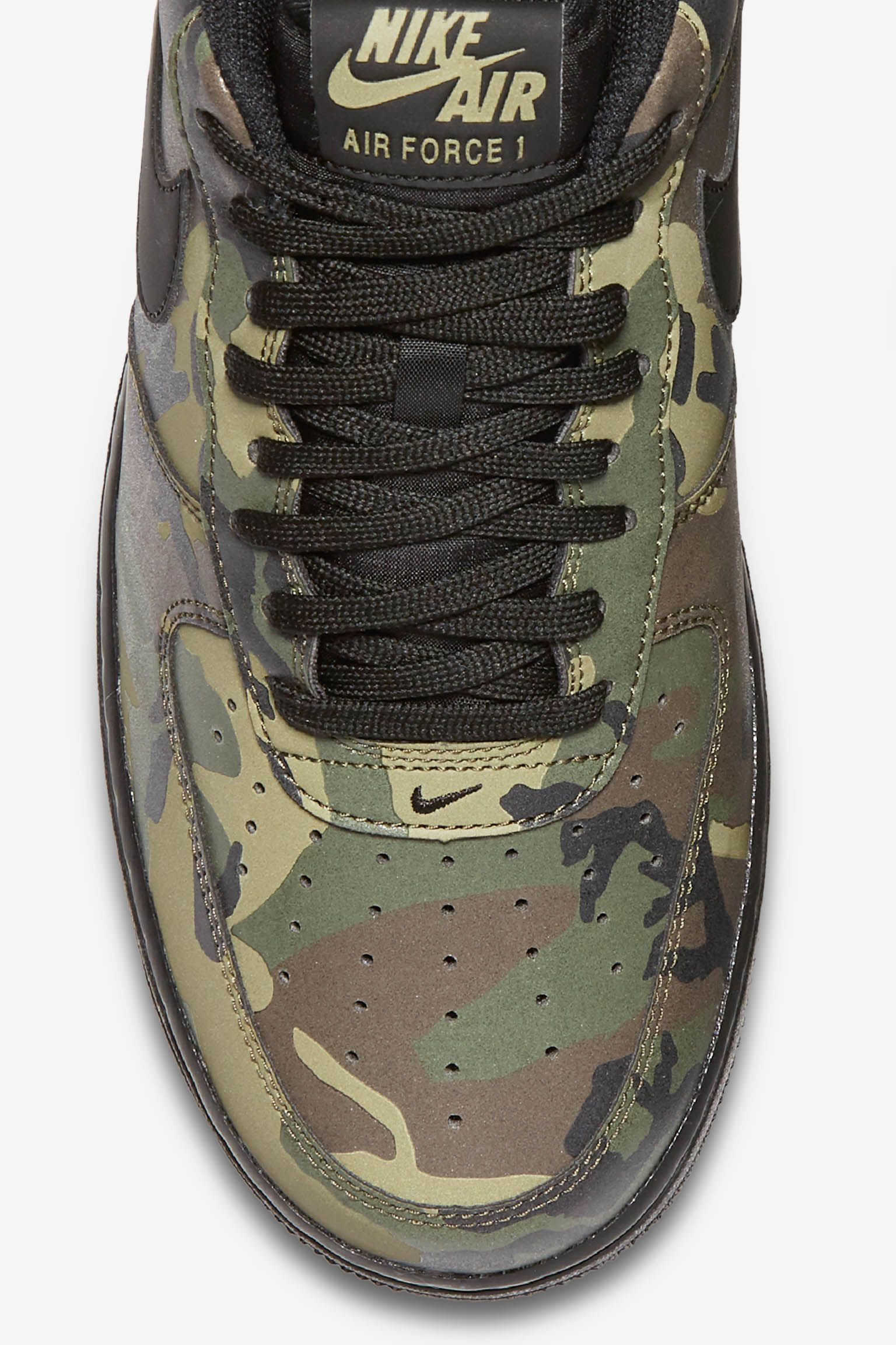 Nike Air Force 1 Low 07 'Medium Olive Camo Reflective' Release Date
