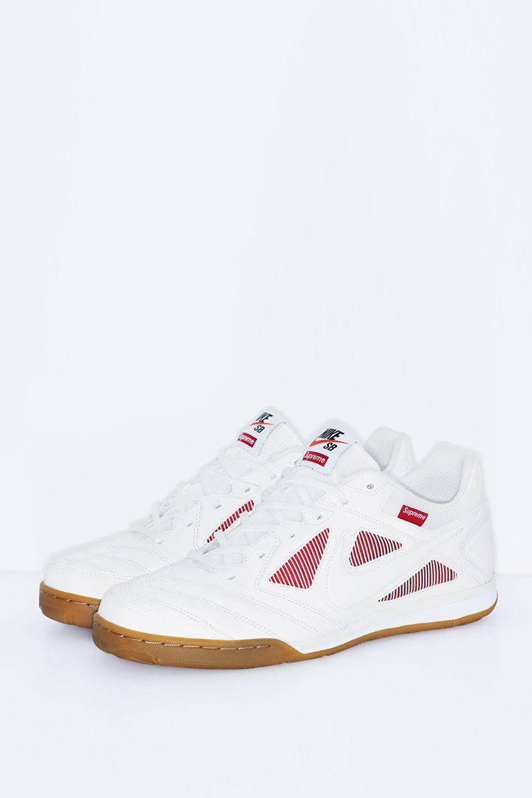 Nike Sb Gato QS Supreme 'White & Gym Red' Release Date