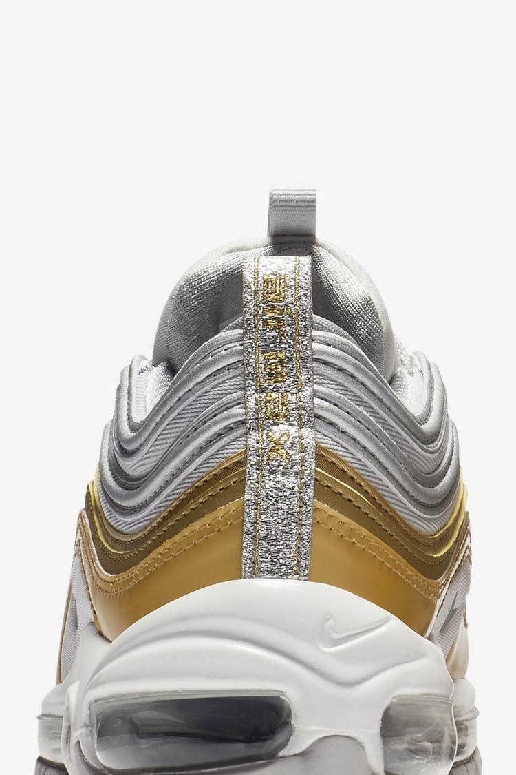 Women's Air Max 97 'Vast Grey & Metallic Gold & Metallic Silver' Release Date