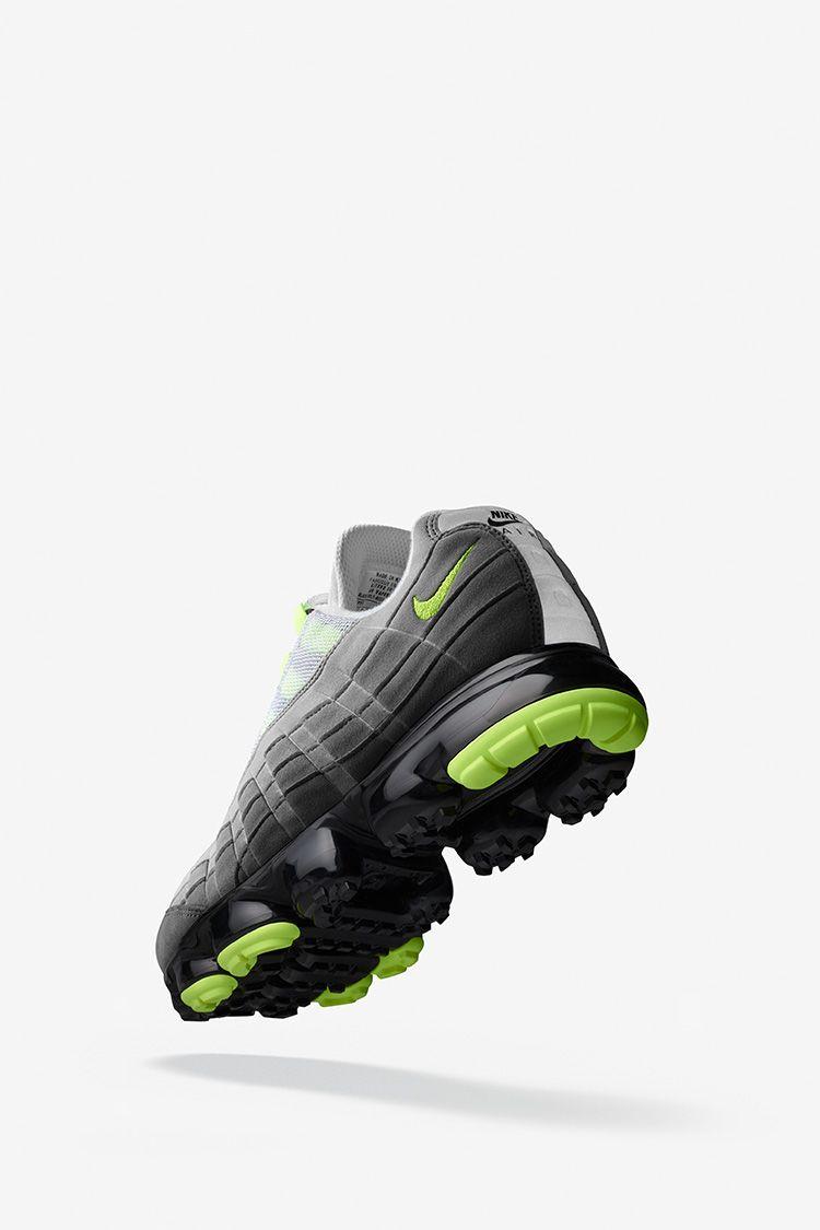 Nike Air Vapormax 95 'Black & Volt & Dark Pewter' Release Date