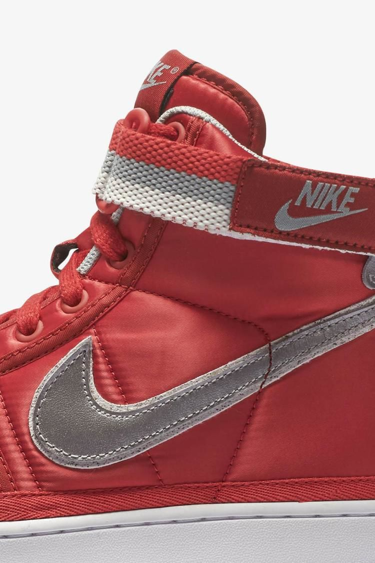 Nike Vandal High Supreme 'University Red & Metallic Silver' Release Date