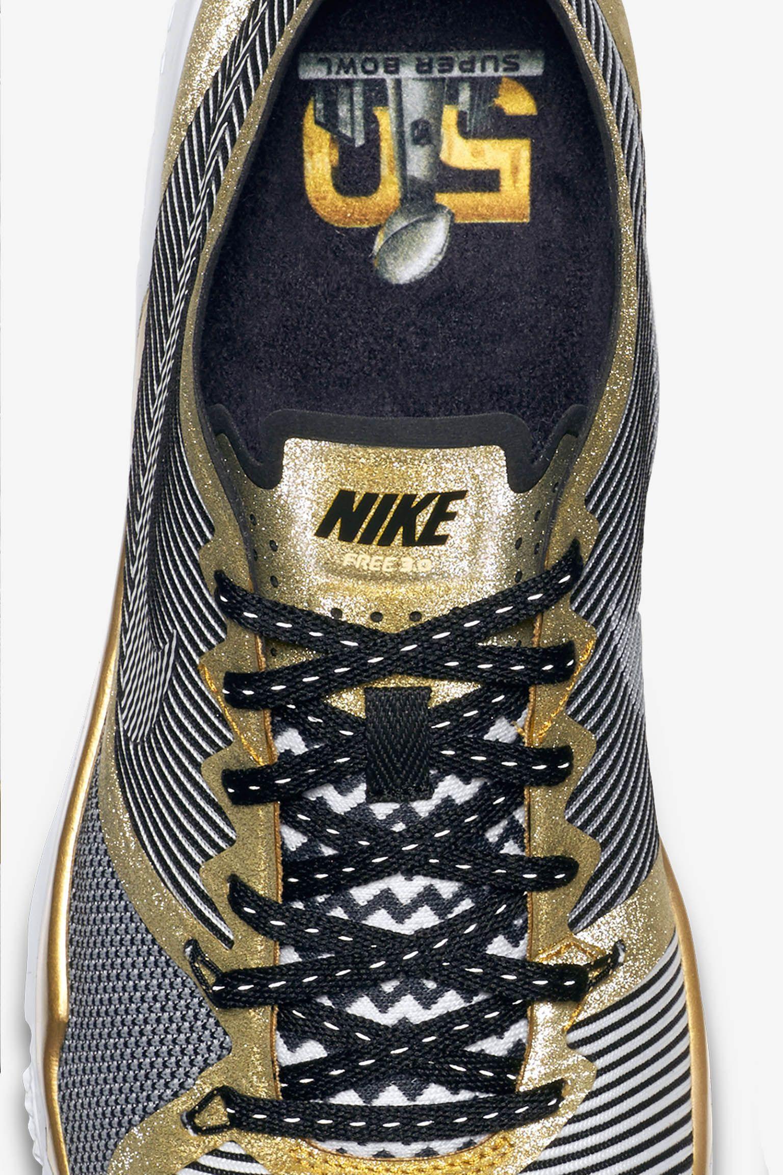 SB50 Nike Free Trainer 3.0 V4 'Metallic Gold'