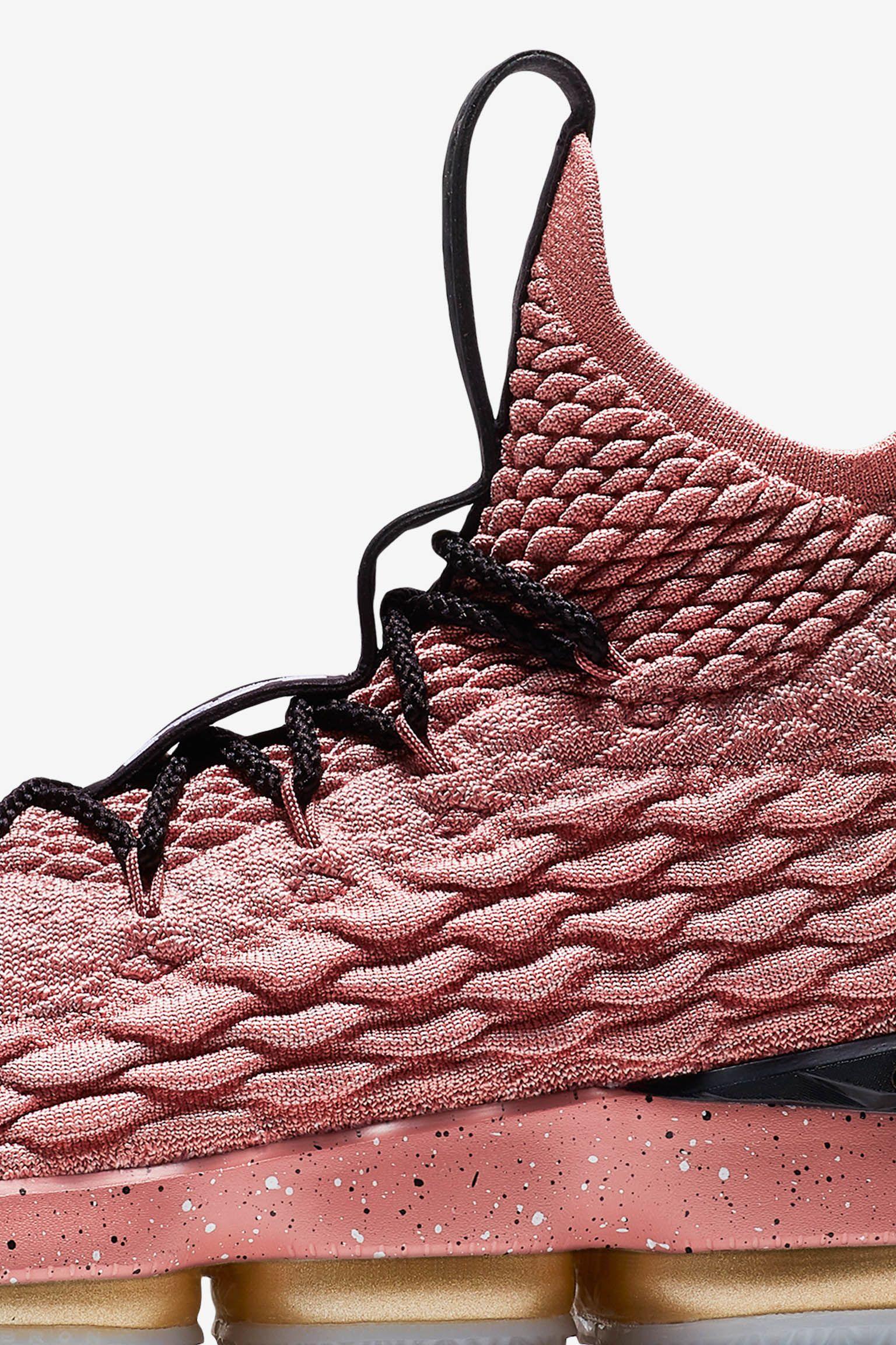 Nike Lebron 15 'Rust Pink & Metallic Gold' Release Date