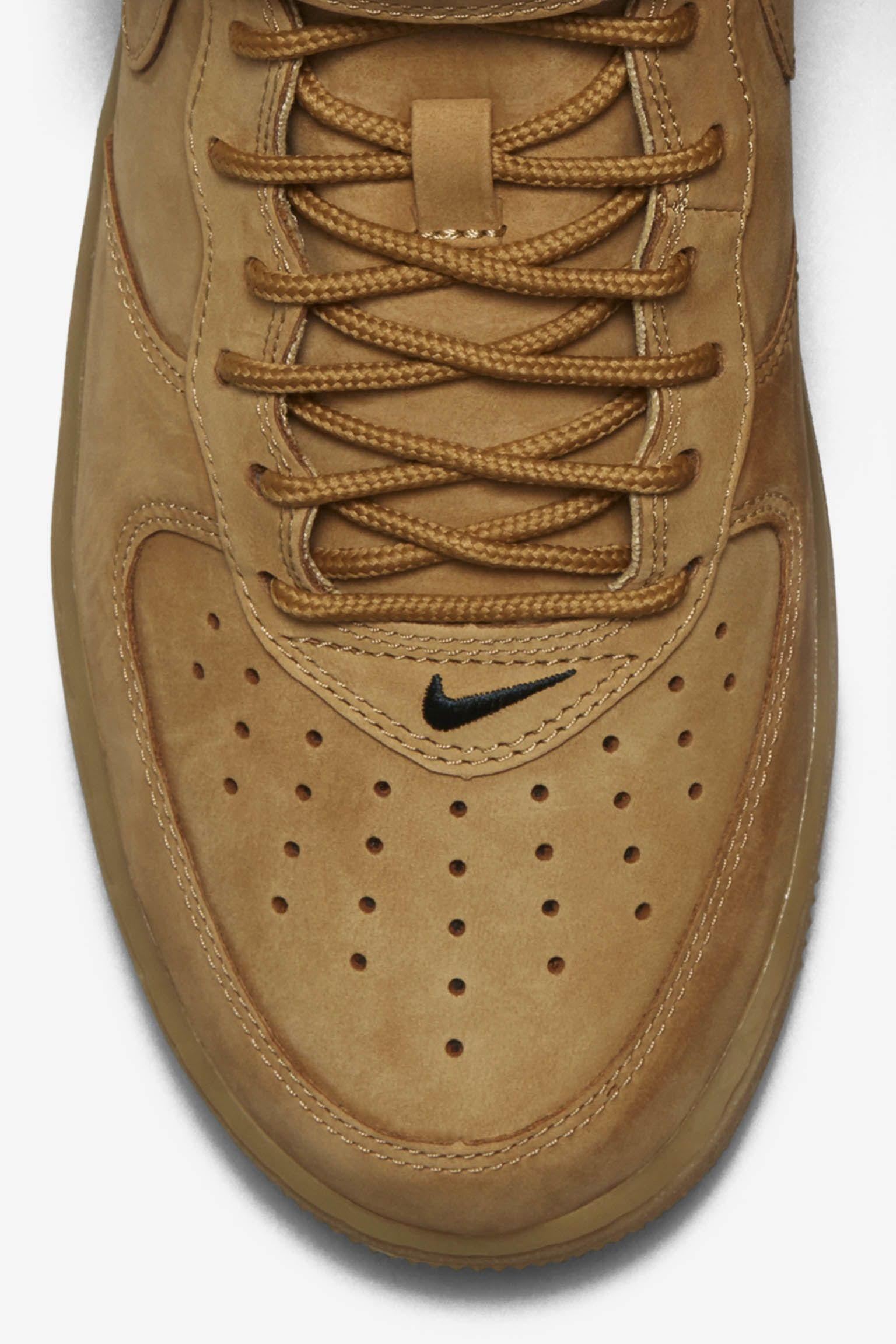 Nike Air Force 1 Mid 'Flax'.  Release date