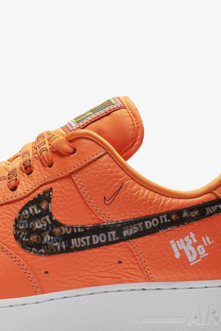 Nike Air Force 1 Premium Just Do It Collection Total Orange