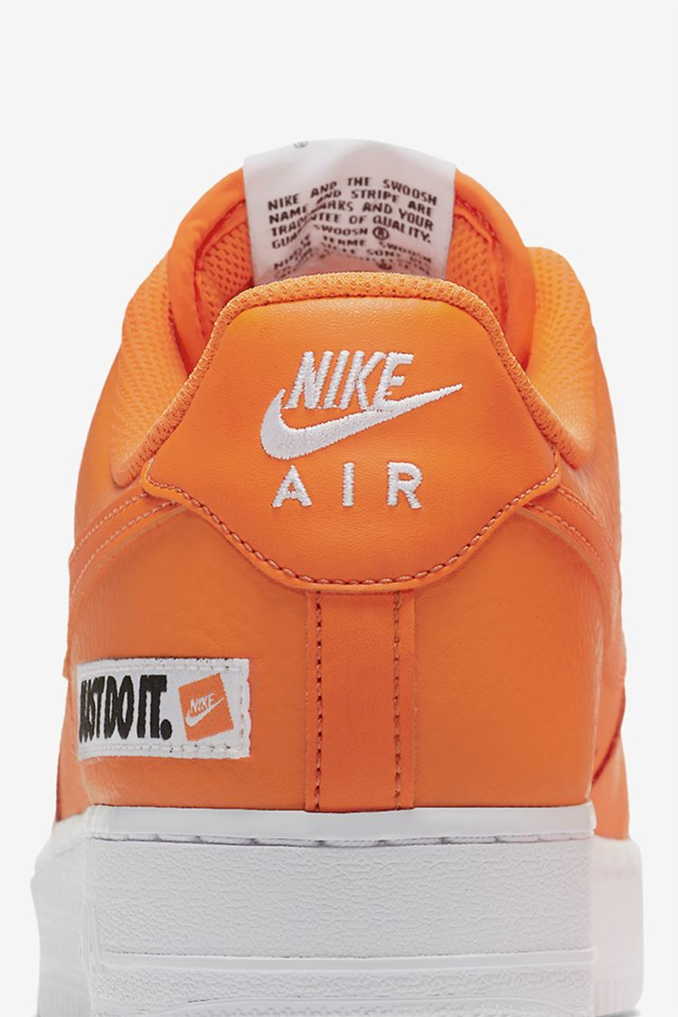 Nike Air Force 1 JDI Collection 'Total Orange & White' Release Date