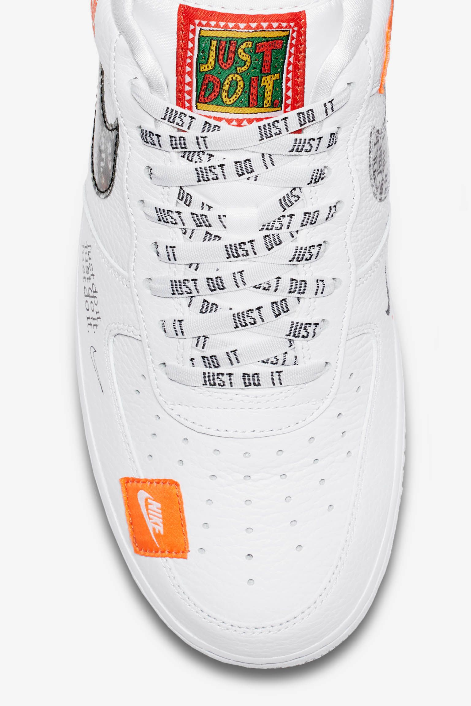 48f088bfe48b6 Nike Air Force 1 Premium Just Do It Collection 'White & Total Orange ...