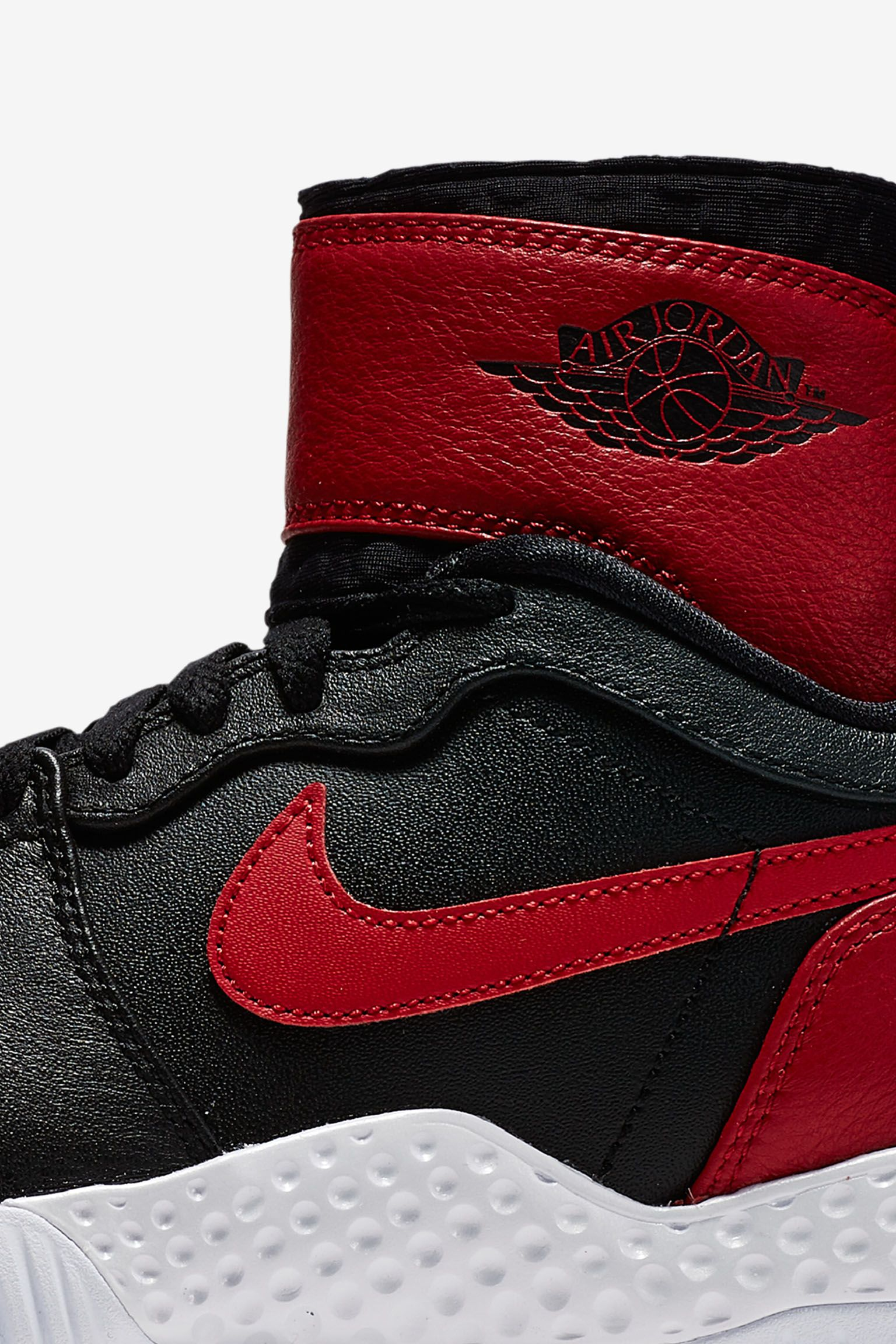 NikeCourt Flare AJ1 'Black & Varsity Red' voor dames