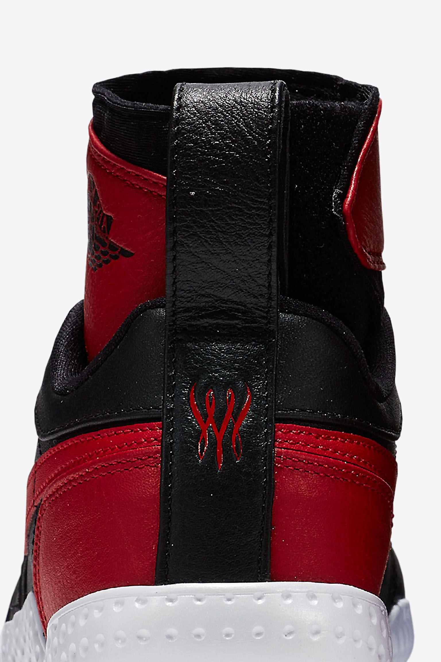 "Buty damskie NikeCourt Flare AJ1 ""Black & Varsity Red"""