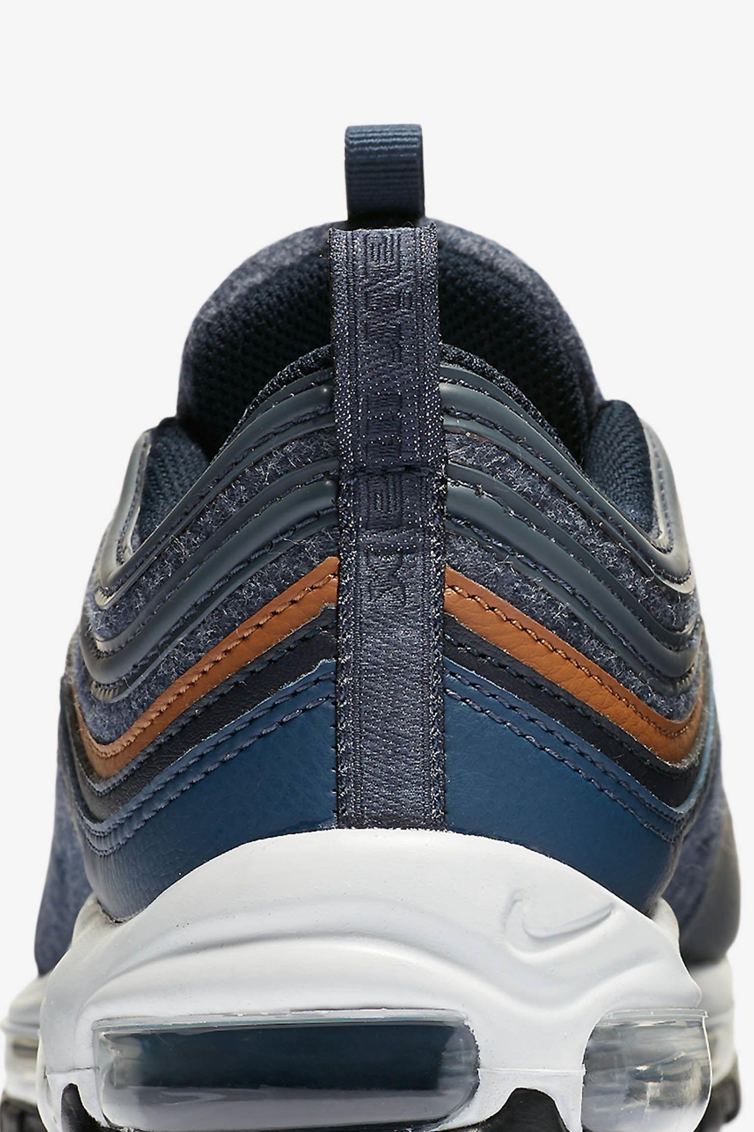 7b5d504351b1 Nike Air Max 97 Premium  Thunder Blue  amp  Dark Obsidian  Release ...