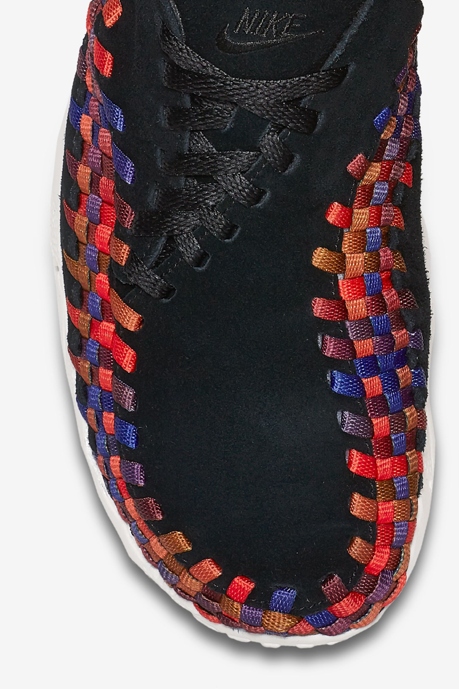 Nike Air Footscape Woven 'Black & Rainbow Weave' Release Date