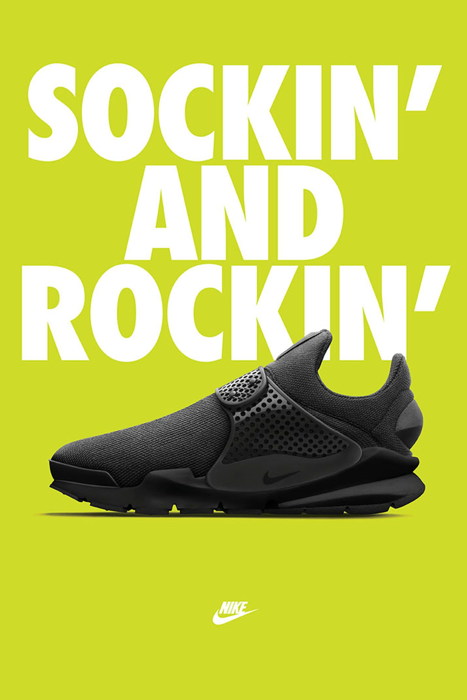 Women's Nike Sock Dart 'Black & Volt'