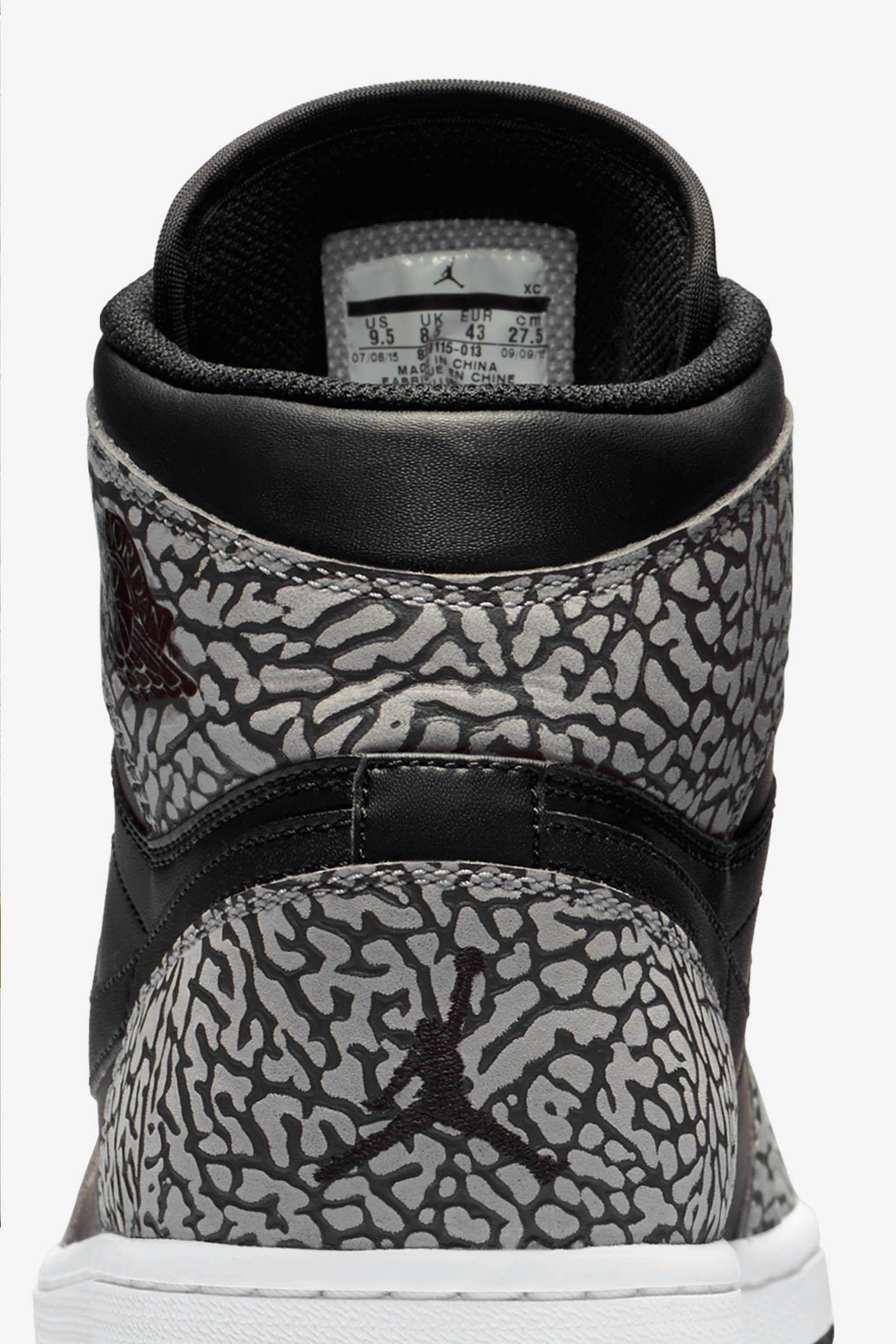 Air Jordan 1 Retro 'Black Cement Grey' Release Date