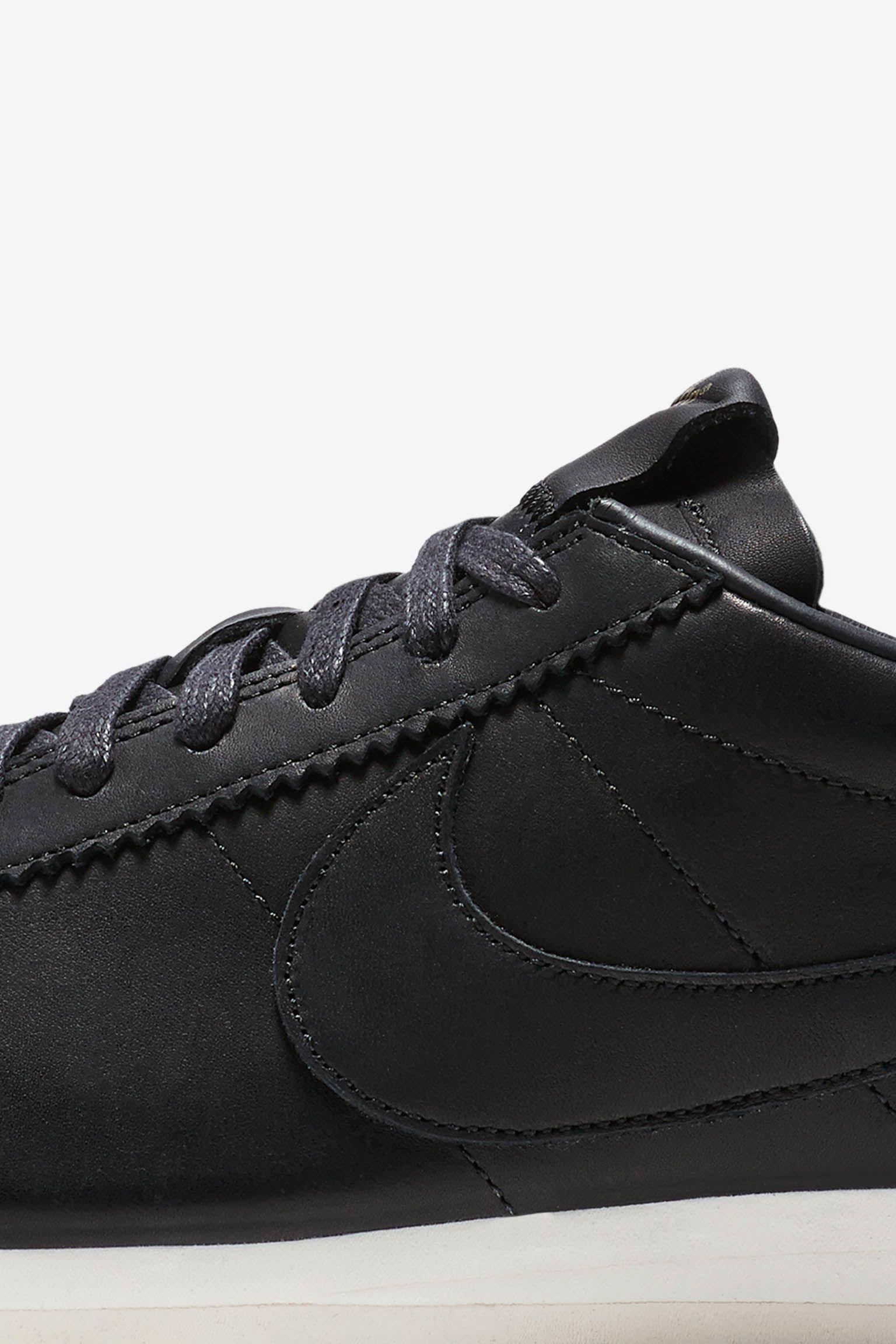 Nike Classic Cortez Premium 'Black & Sail'