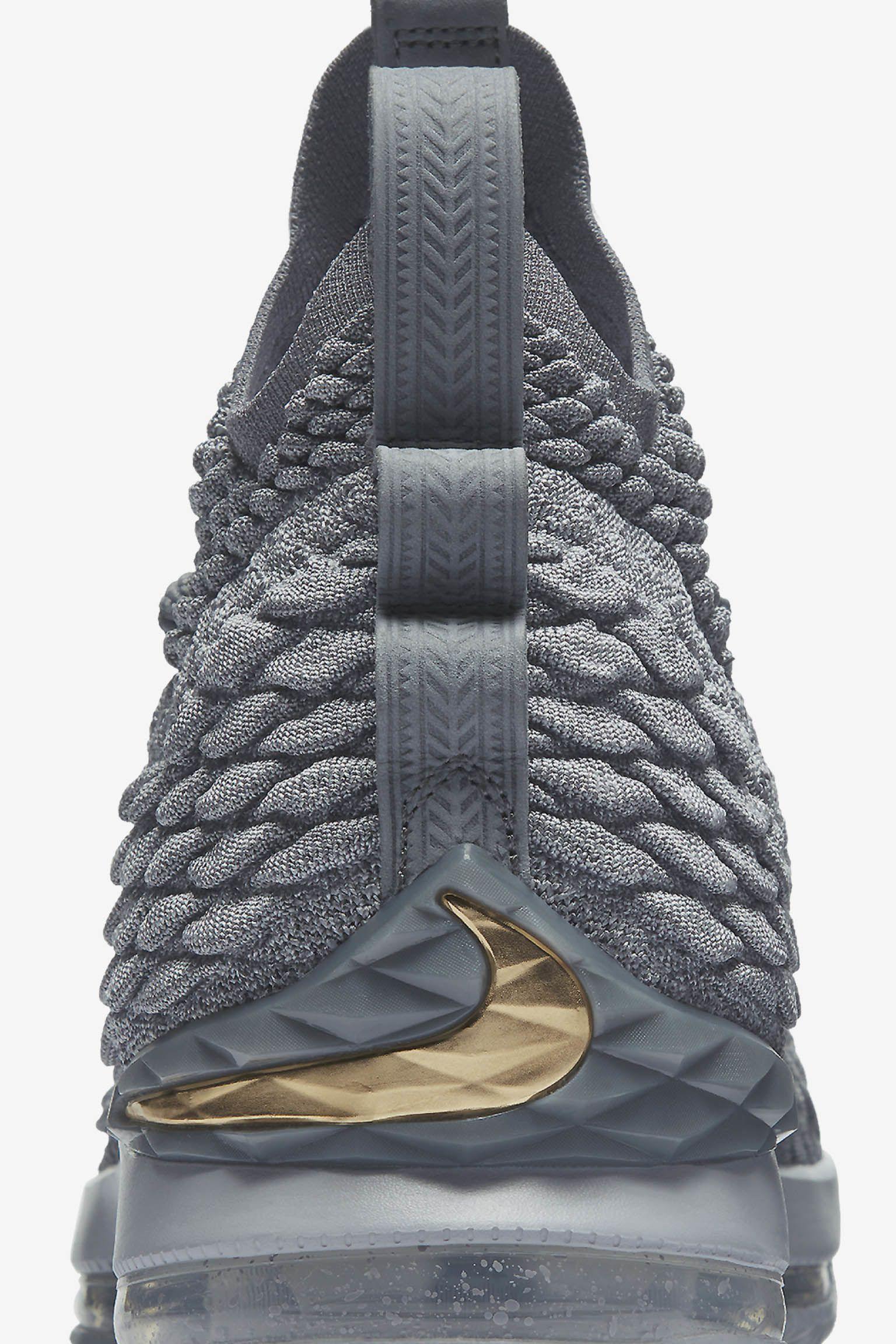 Nike Lebron 15 'Wolf Grey & Metallic Gold' Release Date