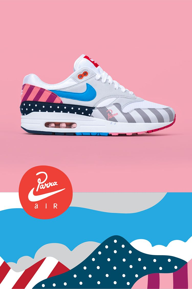 34578f9d7b ... Parra uses the beloved AM1 shoe as a canvas to revisit the landscapes  that shaped his career as an artist. His iconic graphics are applied to the  upper, ...