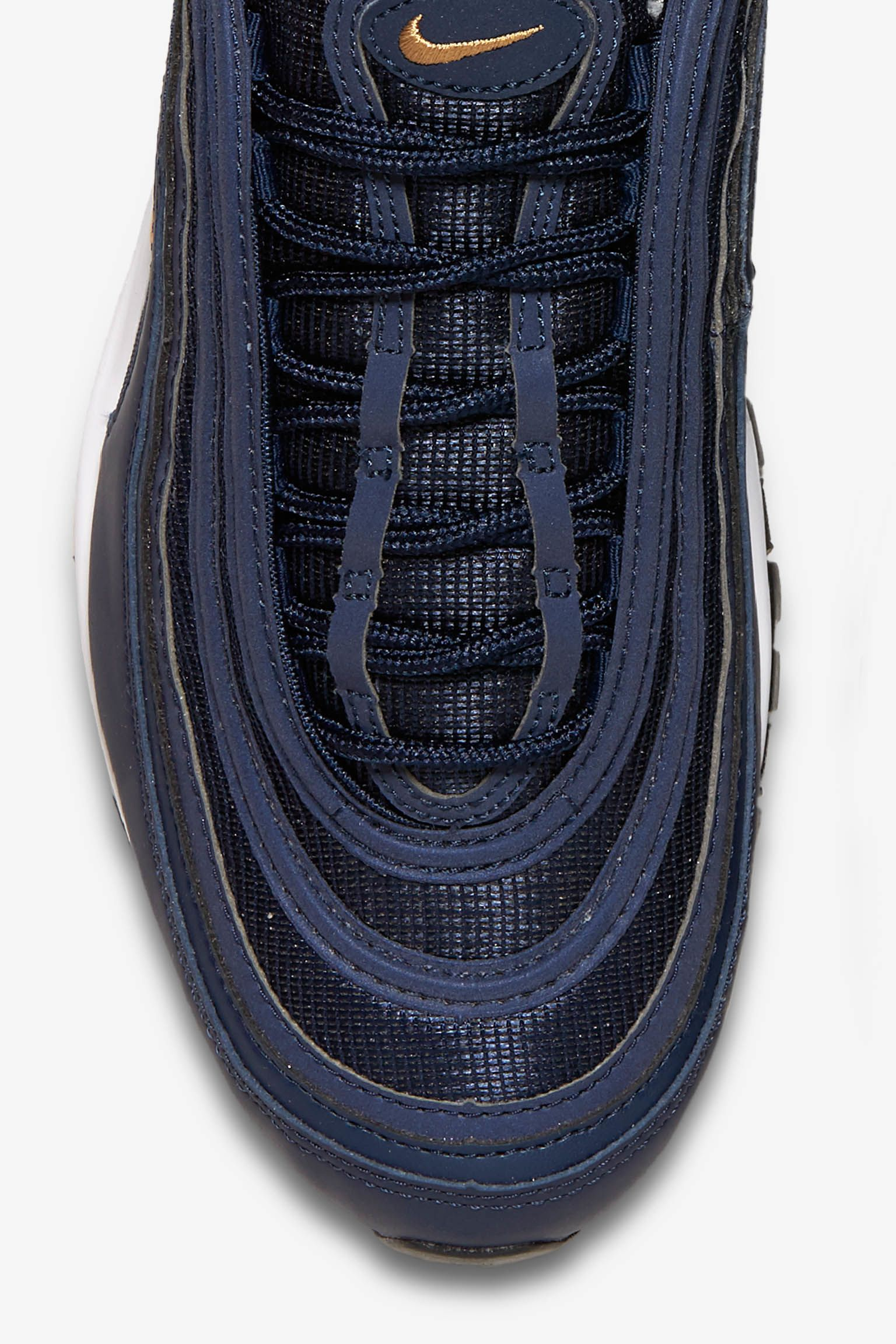Nike AIR MAX 97 'midnight navy' blue gold 2017 Men 921826400
