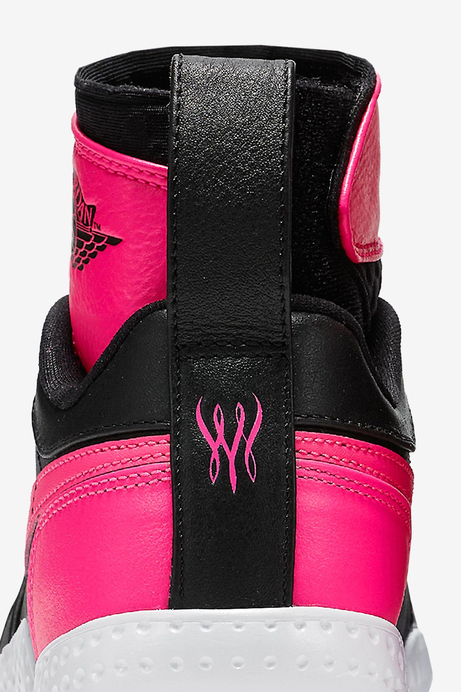 NikeCourt Flare AJ1 « Black & Hyper Pink » pour Femme