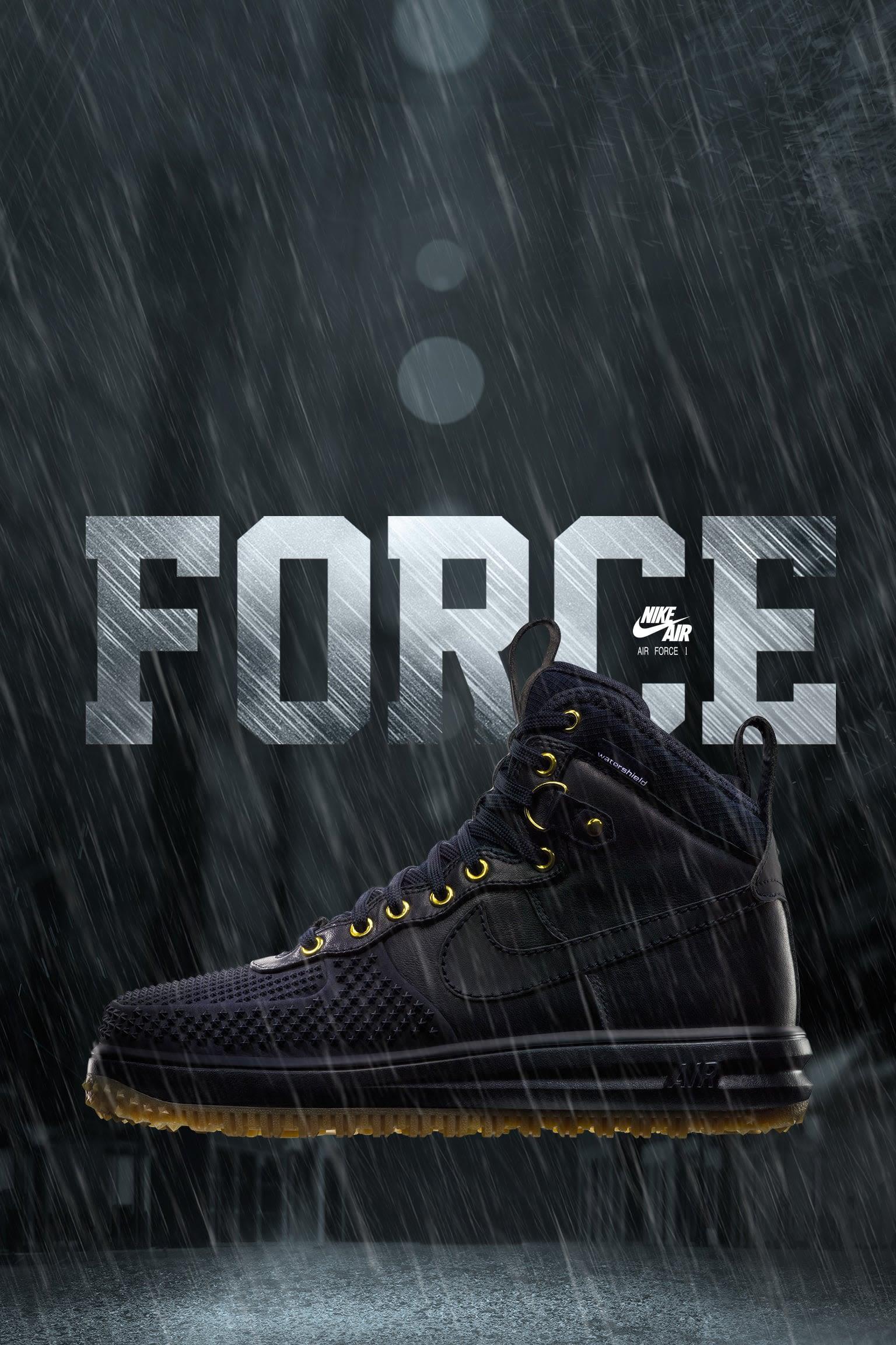 Nike Lunar Force 1 Duckboot 'Dark Obsidian'
