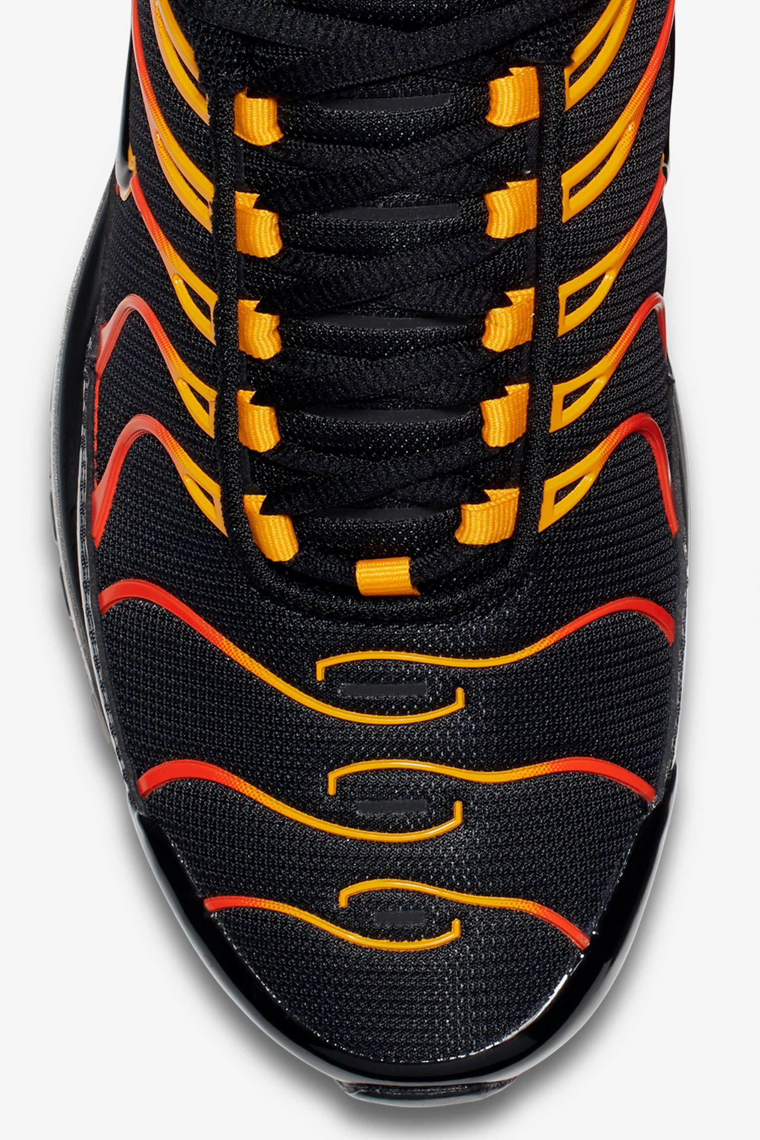 Color Black Black -  Nike Air Max 97 Plus Shock Orange Black Release ... eee2cf7ad