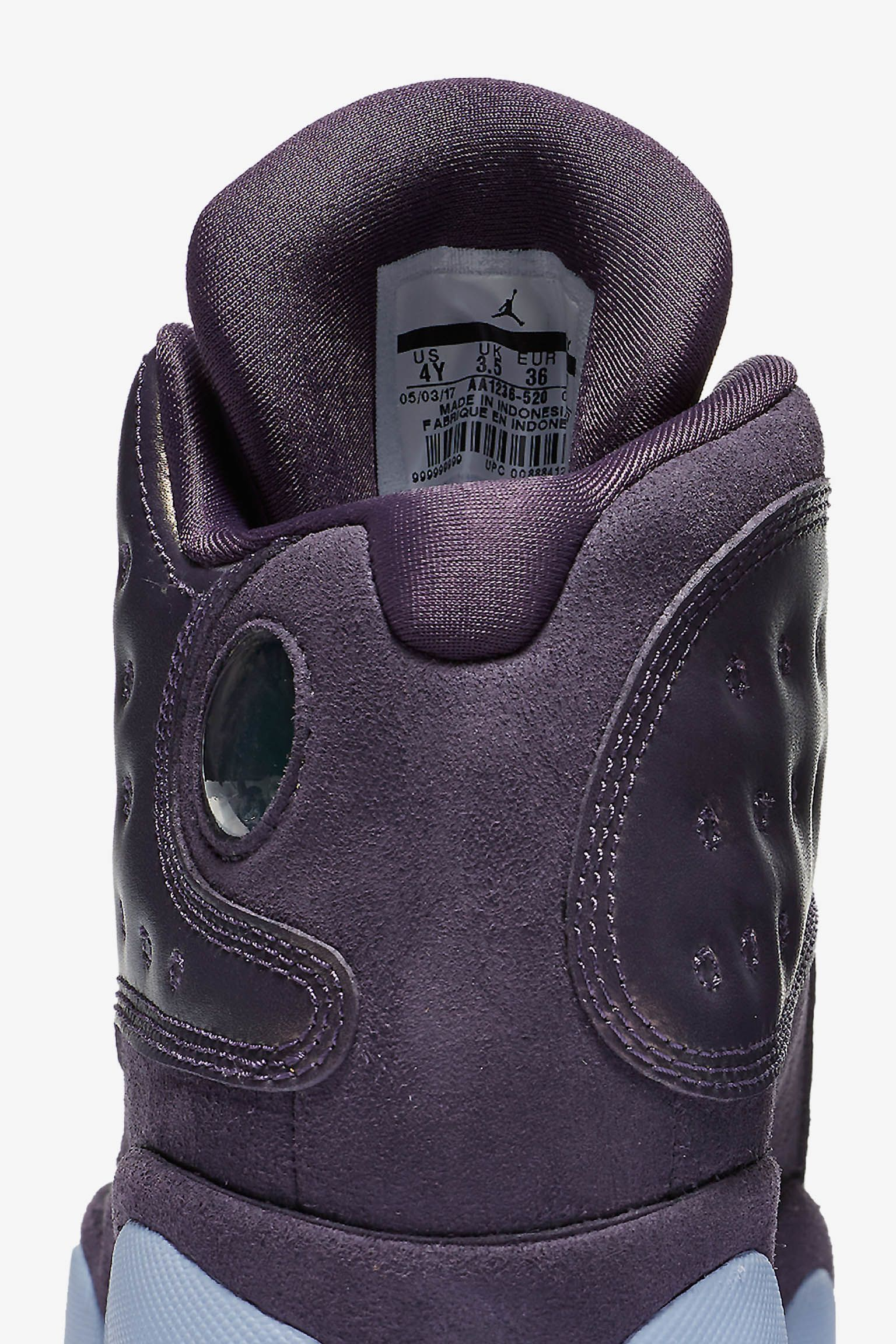 Air Jordan 13 GG Heiress 'Dark Raisin & Hydrogen Blue' Release Date