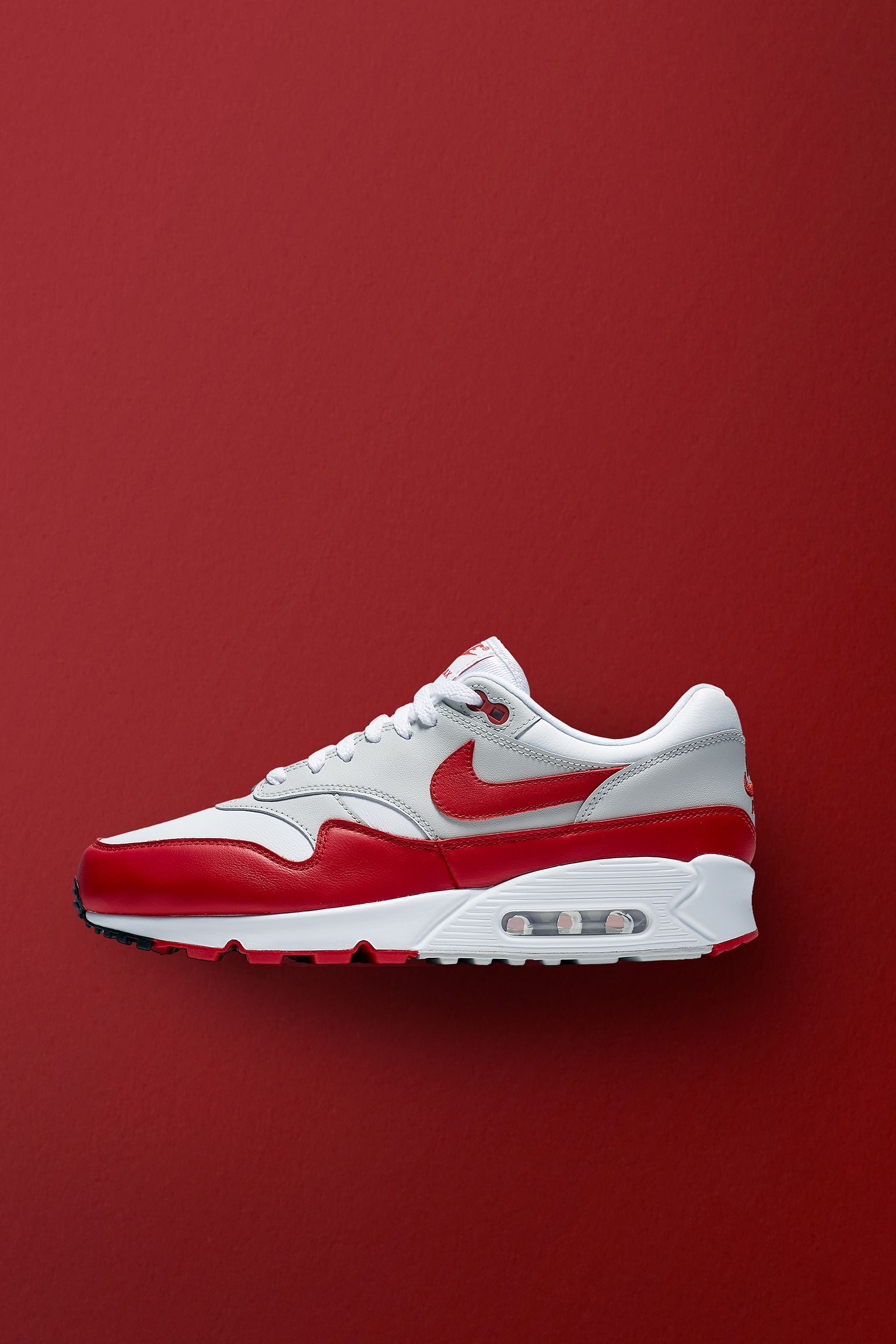 81539d1c Nike Air Max 90/1 'White & University Red' Release Date. Nike⁠+ ...