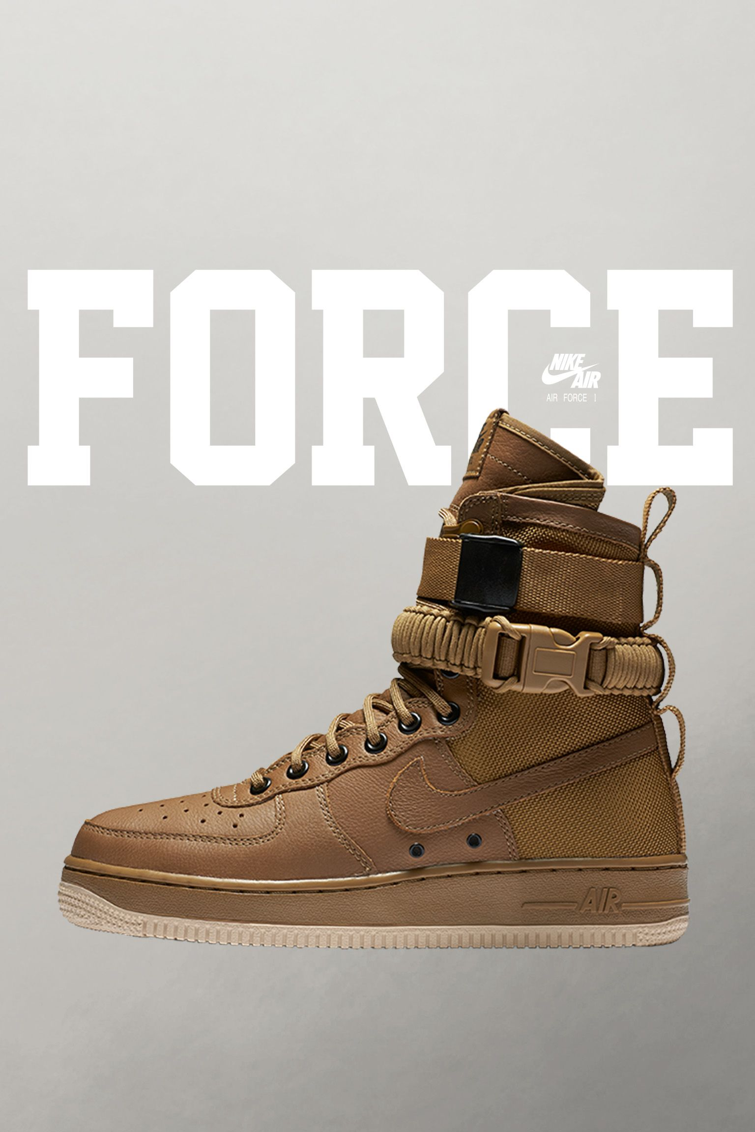Nike Special Field Air Force 1 'Golden Beige' voor dames. Releasedatum