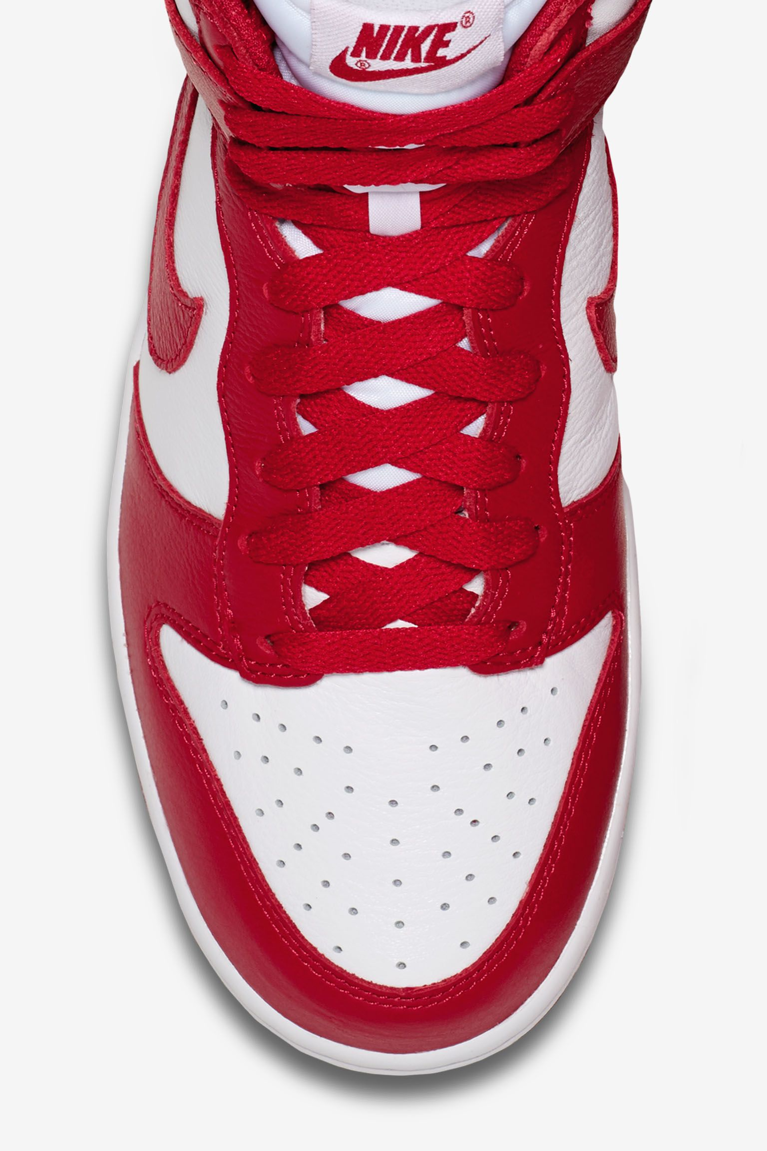 Nike Dunk College Colors 'Red & White'