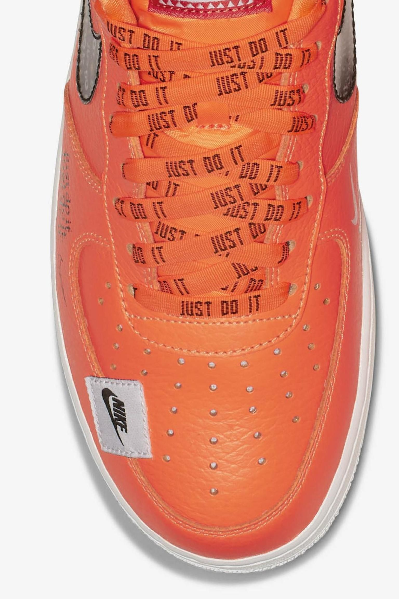 Nike Air Force 1 Premium Just Do It Collection  Total Orange ... 49f384ec8e23