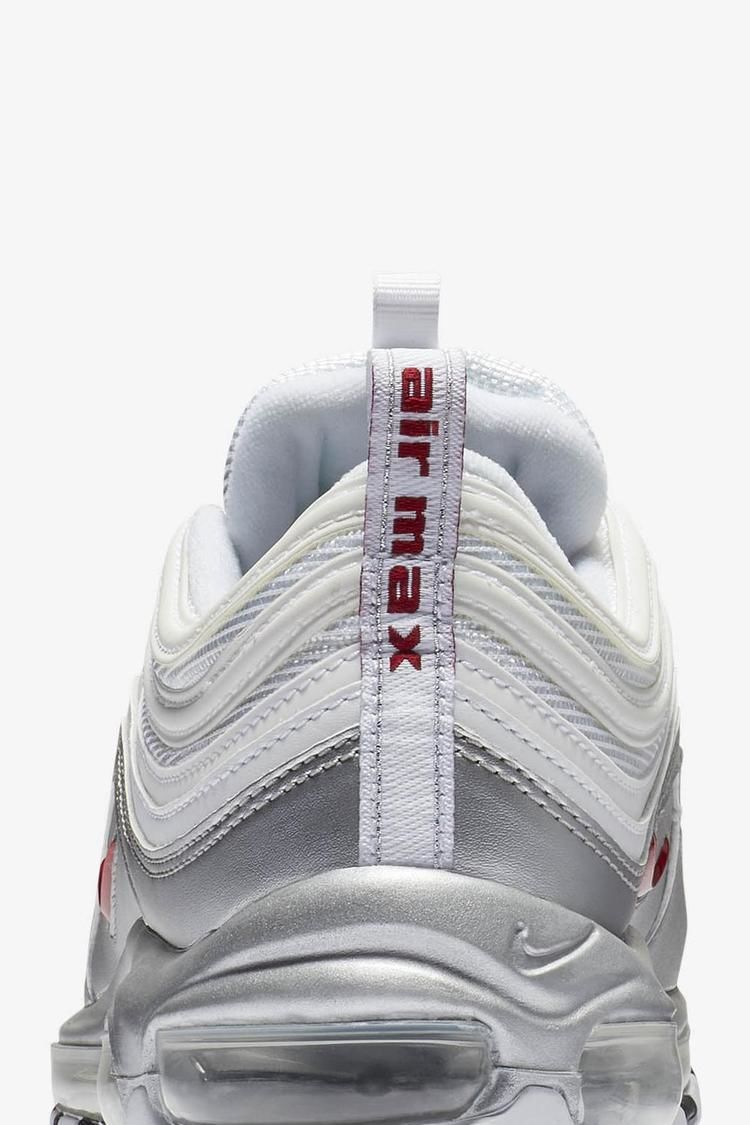 Nike Air Max 97 'Metallic Silver & White' Release Date