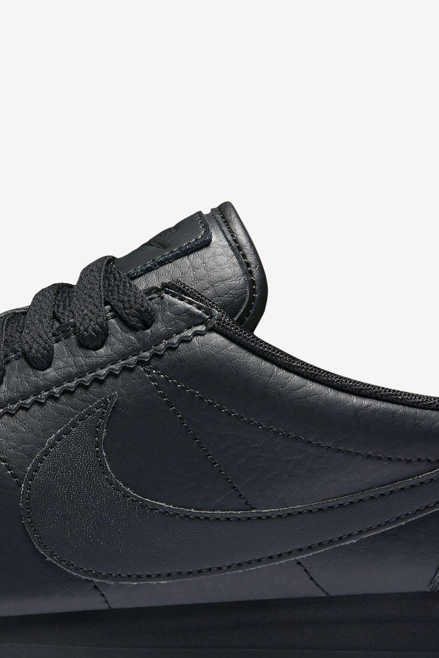 Women's Nike Classic Cortez Premium 'Triple Black'