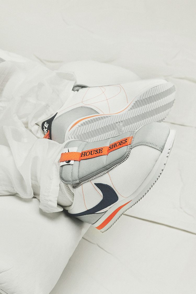 Nike Cortez Kenny 4 House Shoes 'White & Wolf Grey & Turf Orange' Release Date