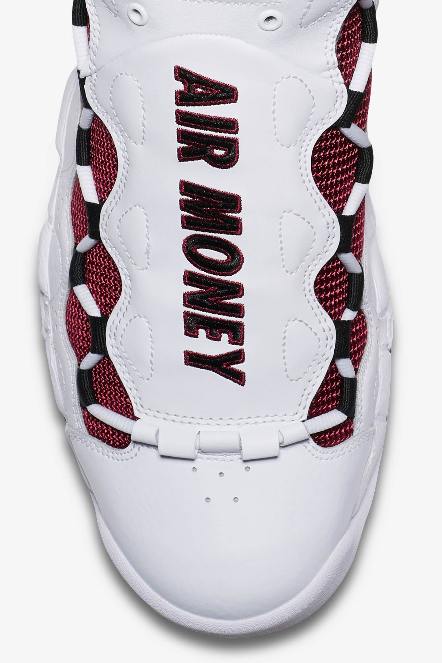 Nike Air More Money 'White & Black & University Red' Release Date
