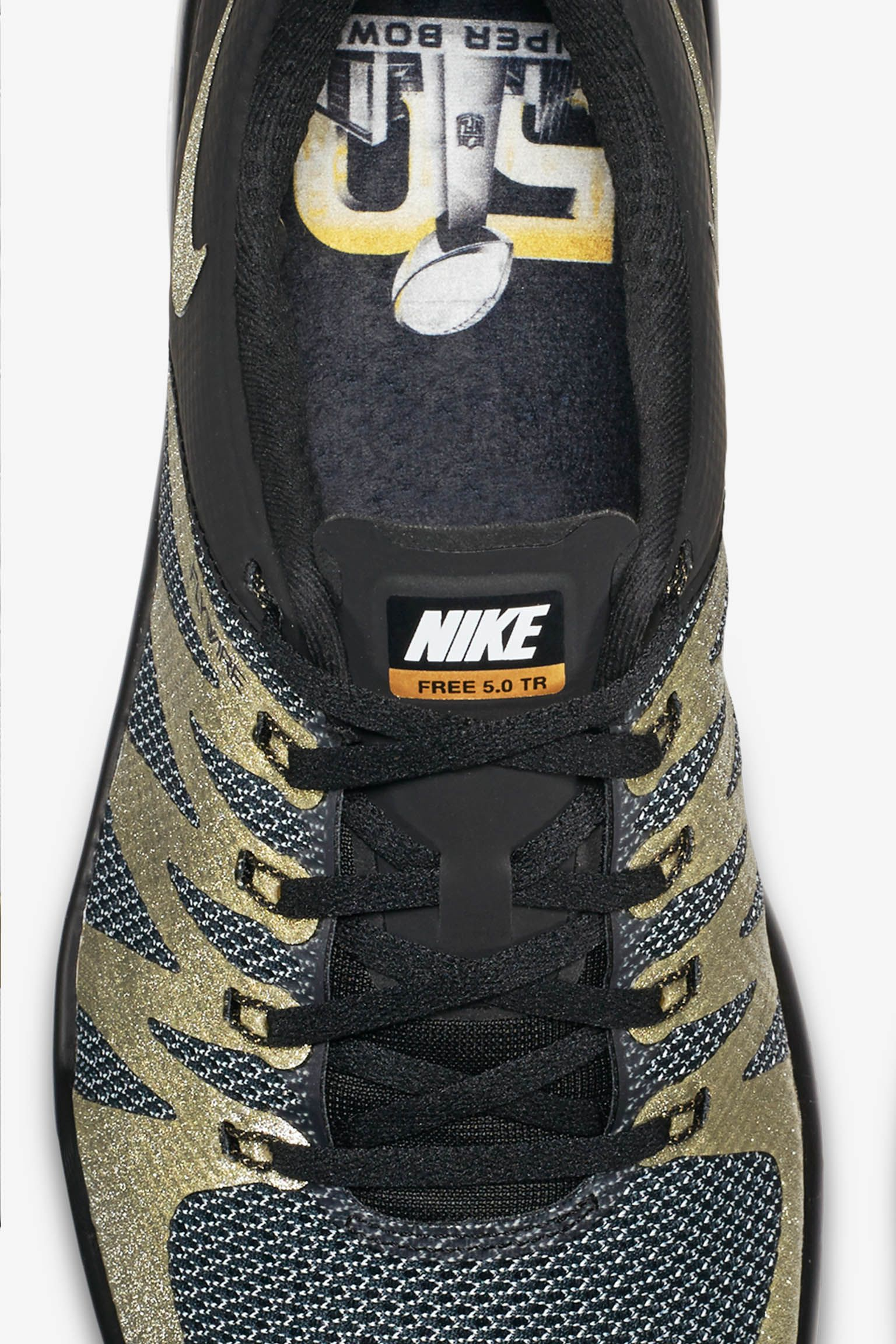 Nike SB50 Nike Free Trainer 5.0 V6 'Black & Metallic Gold'