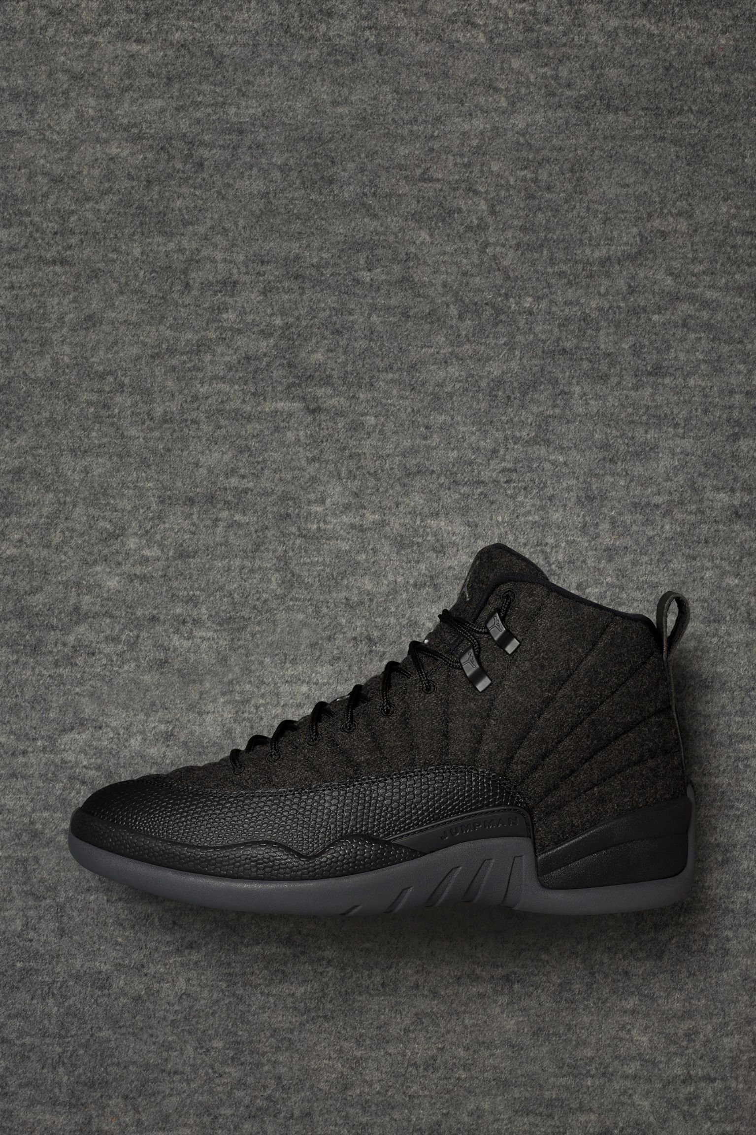 best service 466b5 0d4b2 Air Jordan 12 Retro Wool 'Dark Grey & Black' Release Date ...