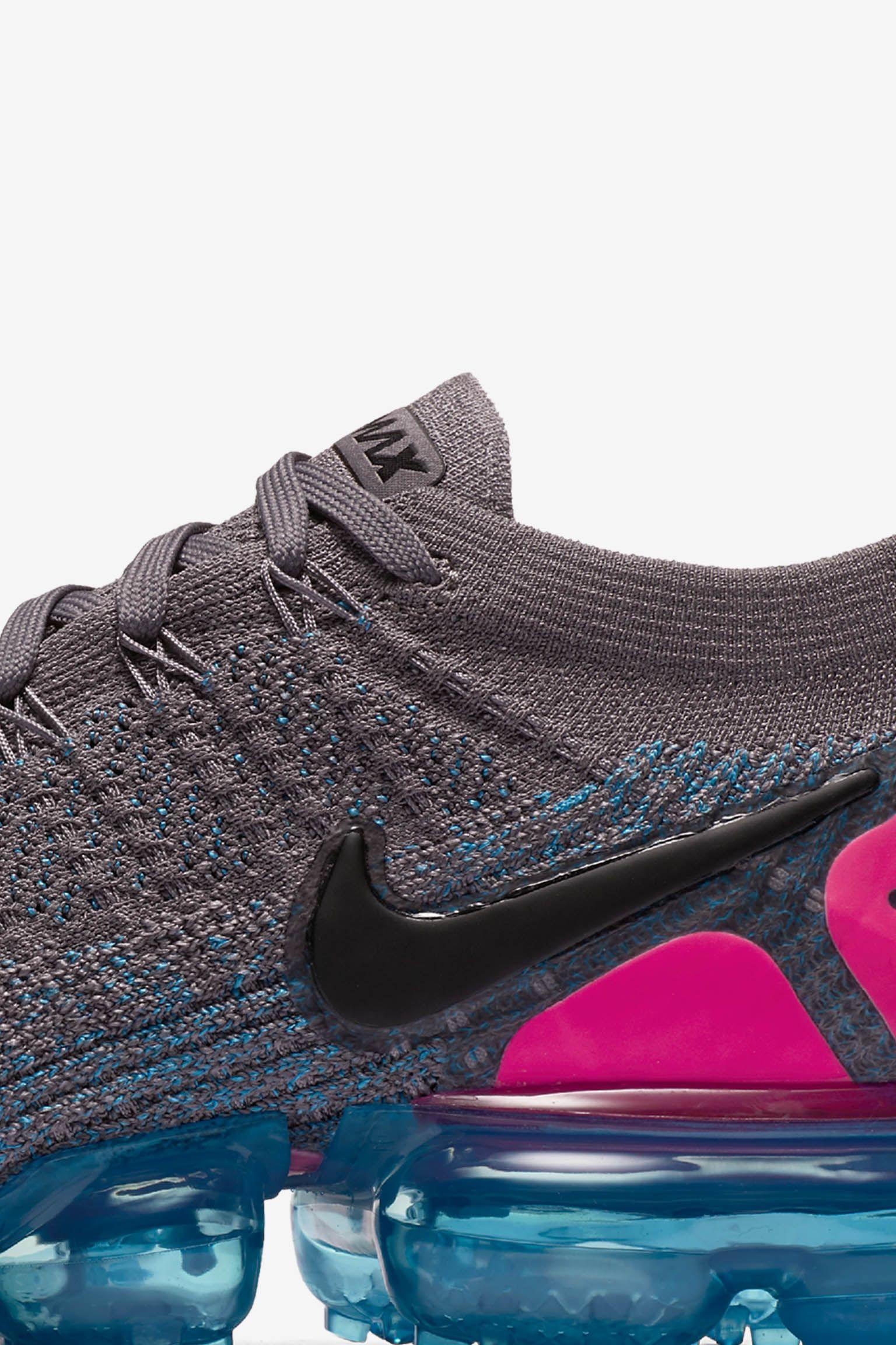 Nike Air Vapormax 2 'Gunsmoke & Blue Orbit & Pink Blast' 发布日期