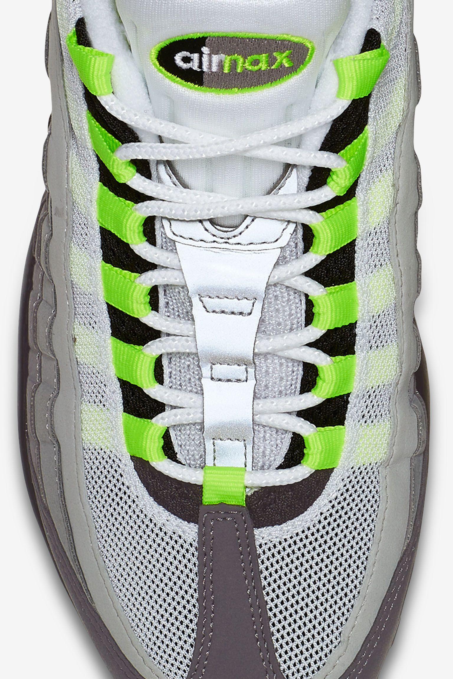 25f2db6450d7 50% off nike air max 95 neon yellow cool grey anatomy edafc 58551
