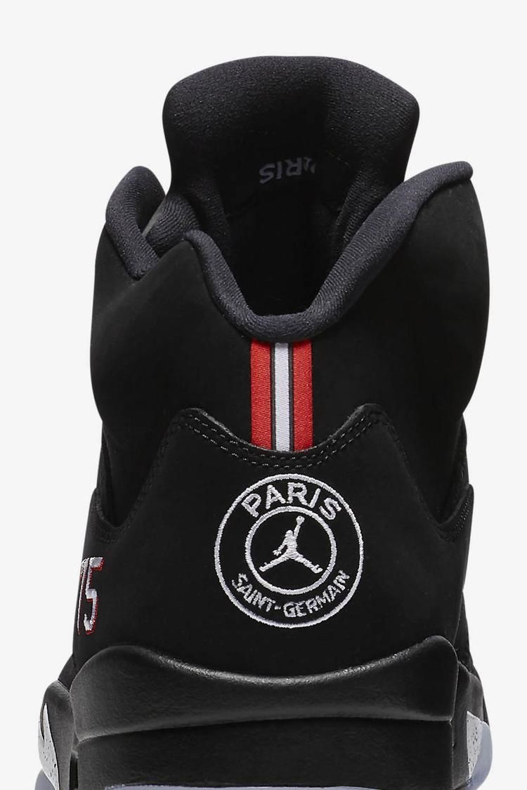Air Jordan 5 PSG ' Black & Challenge Red' Release Date