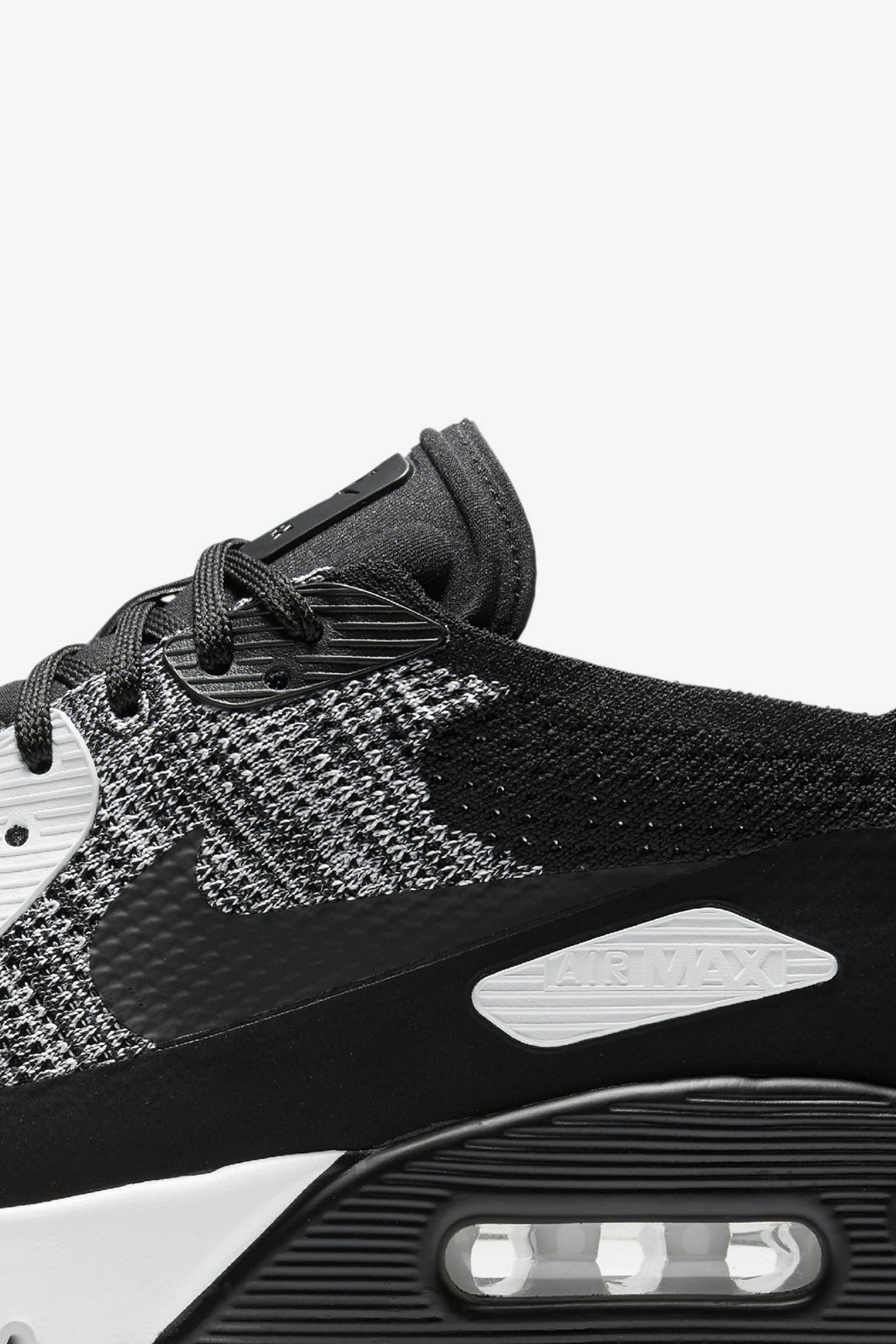 Nike Air Max 90 Ultra 2.0 Flyknit 'Black & White'