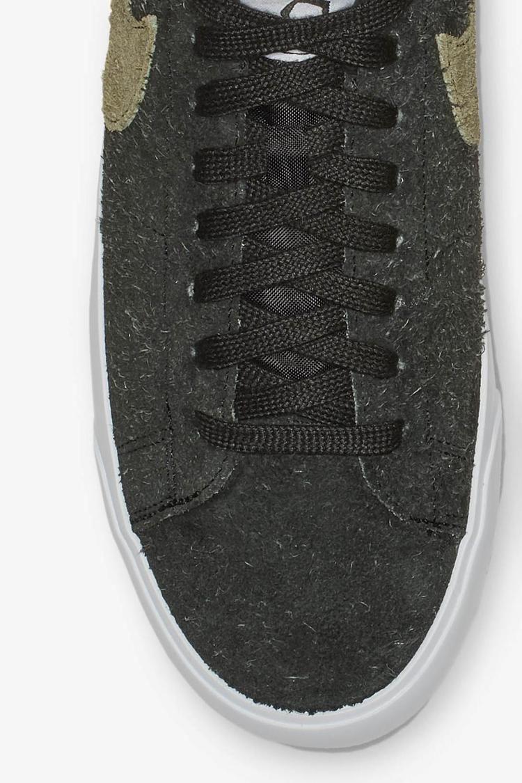 Nike SB Zoom Blazer Low Stussy x Terps 'Black & Reflect Silver' Release Date