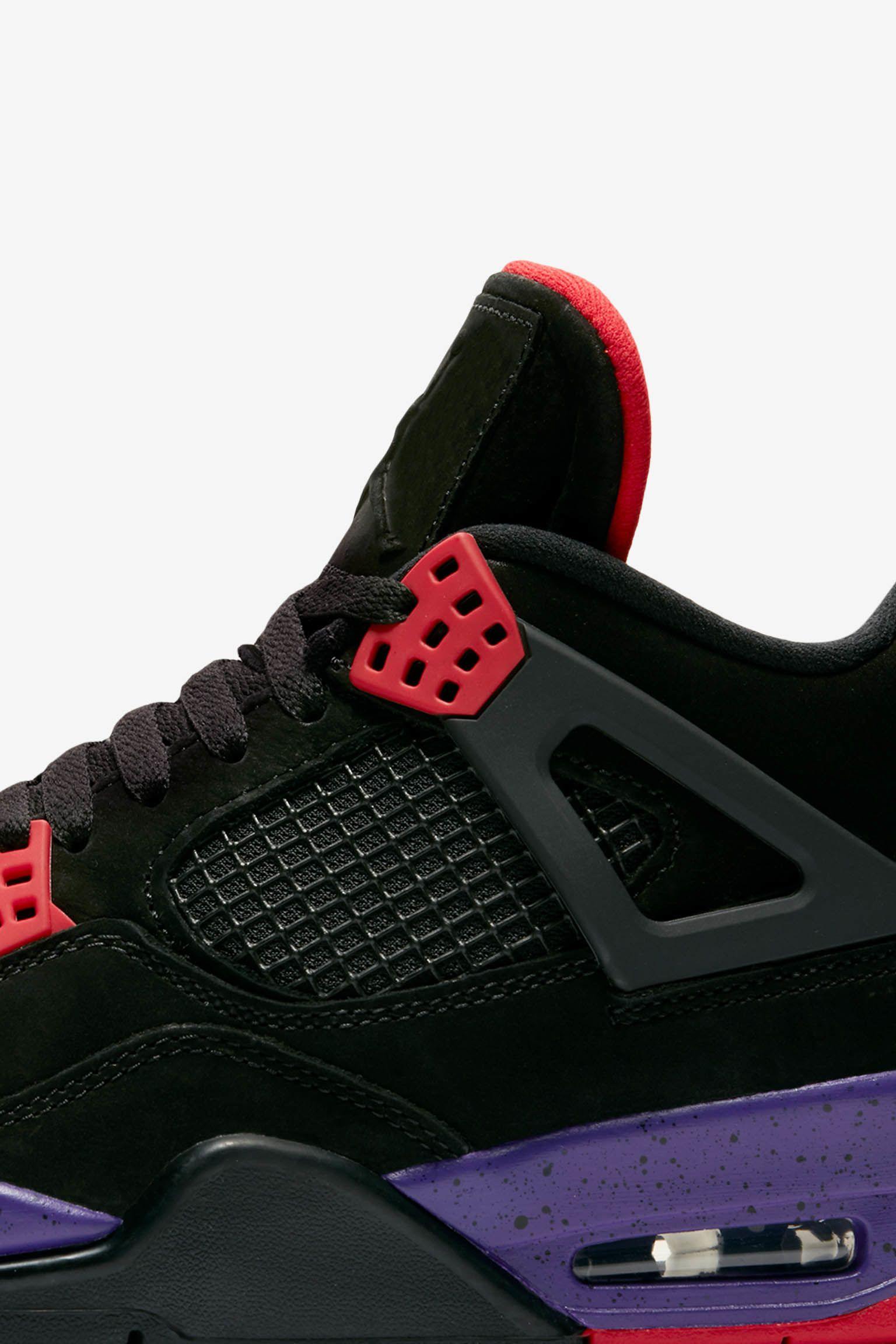 b0d9953f8003a1 Air Jordan 4  Black  amp  Court Purple  Release Date. Nike+ Launch GB