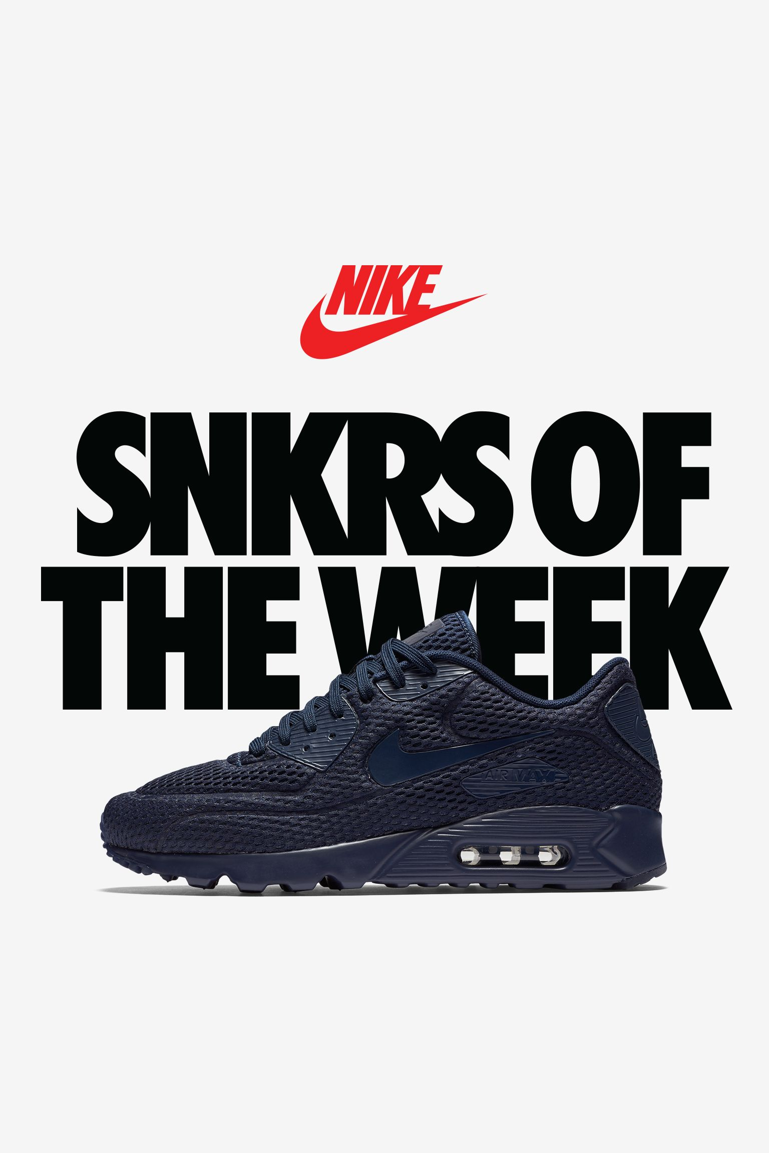 Nike Air Max 90 Ultra Breathe 'Triple Navy'
