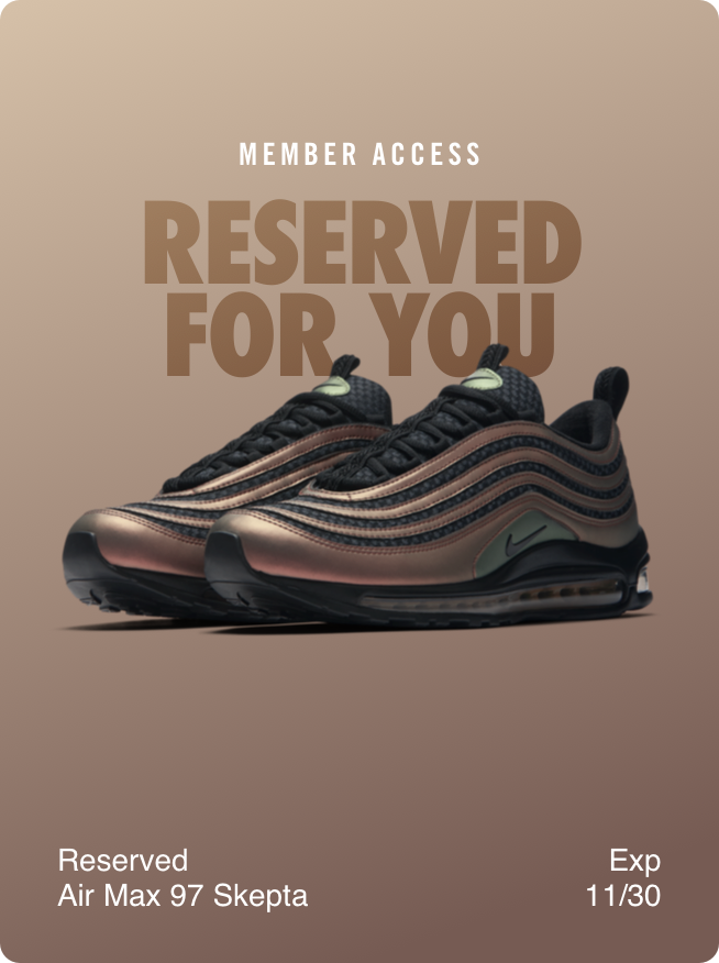 what are reserved for you invitations in the nike app nike help