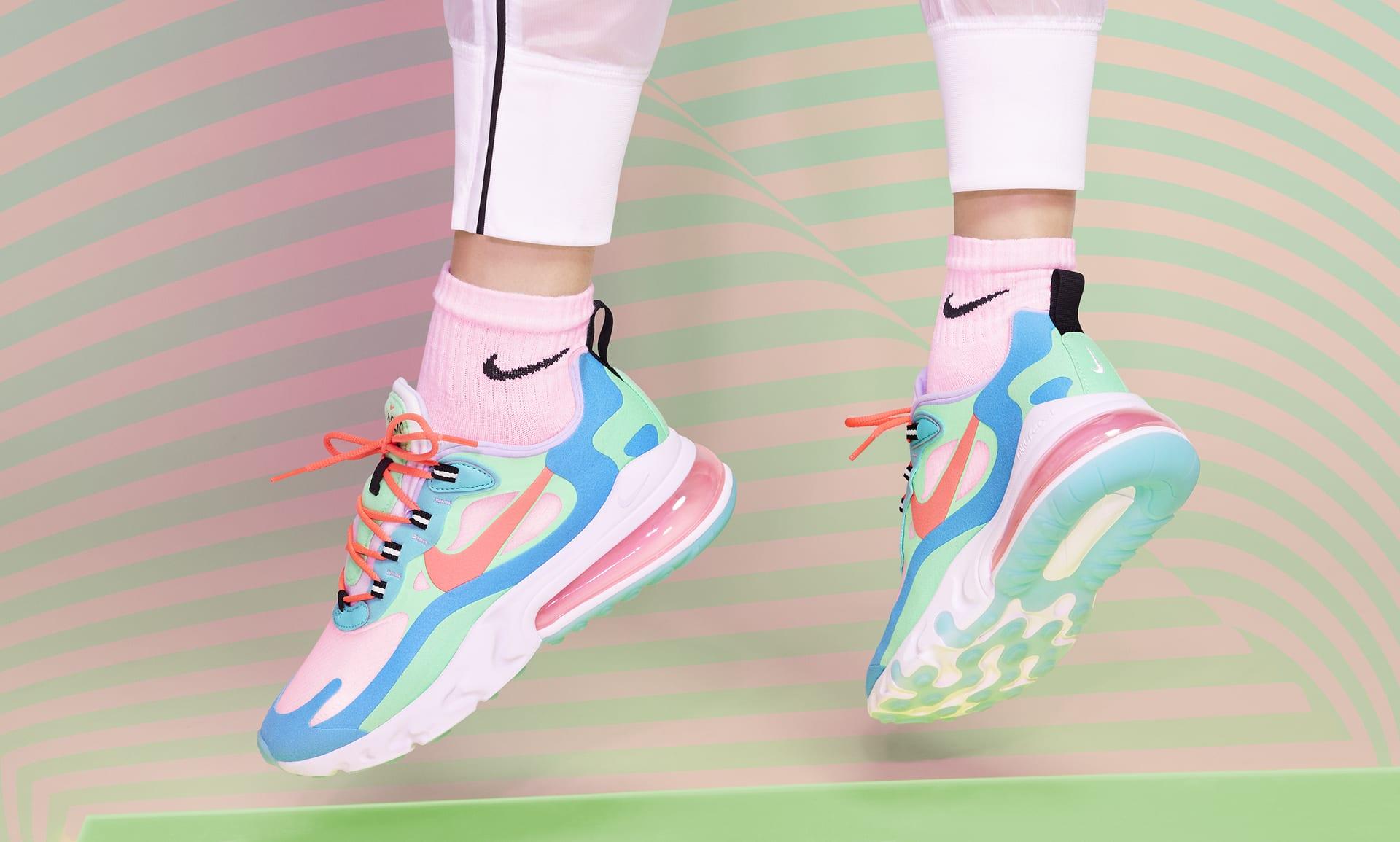 Nike Air Max 270 Wmn Sz 6.5 'Floral'Summit WhiteLight